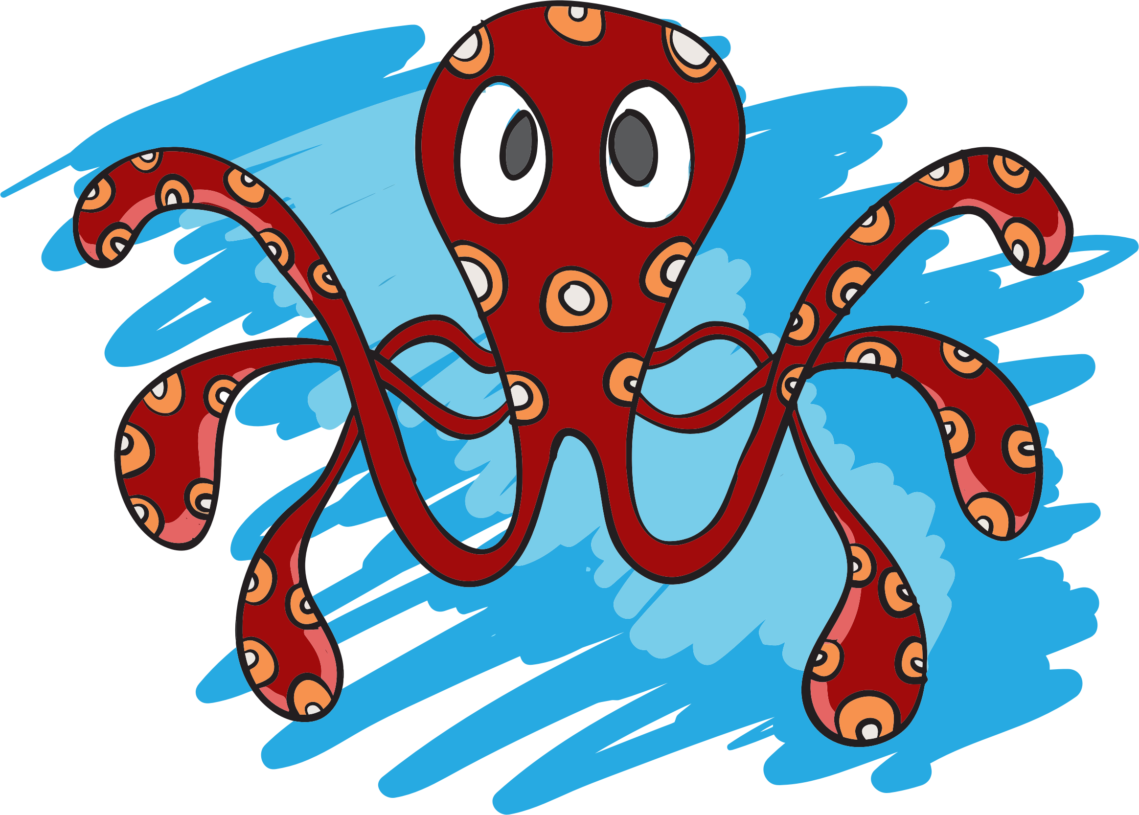 Octopus Drawing by GDJ