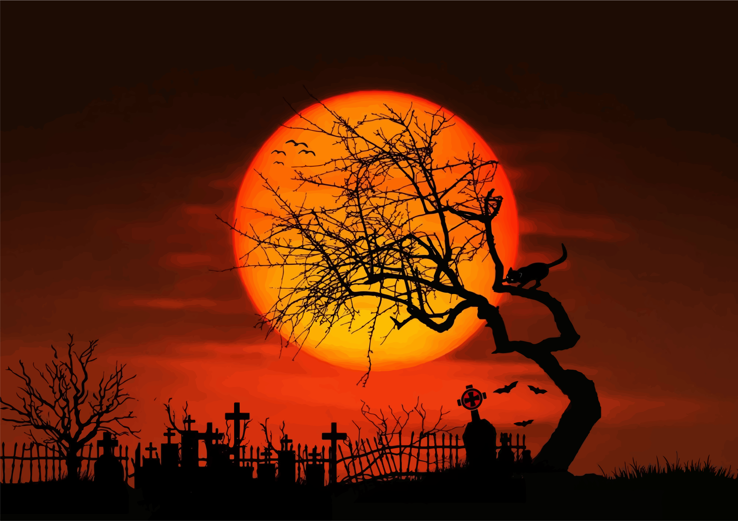 Midnight Graveyard Silhouette by GDJ