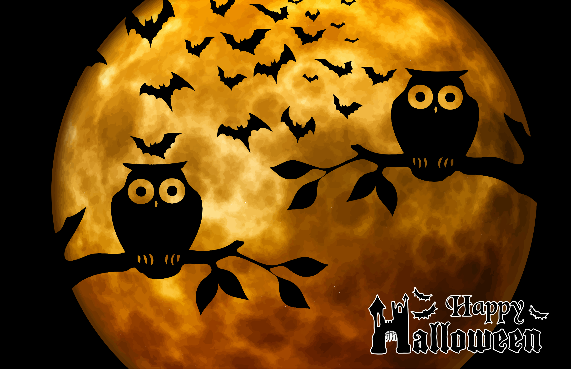 Https Openclipart Org Detail 230097 Happy Halloween Full Moon Background