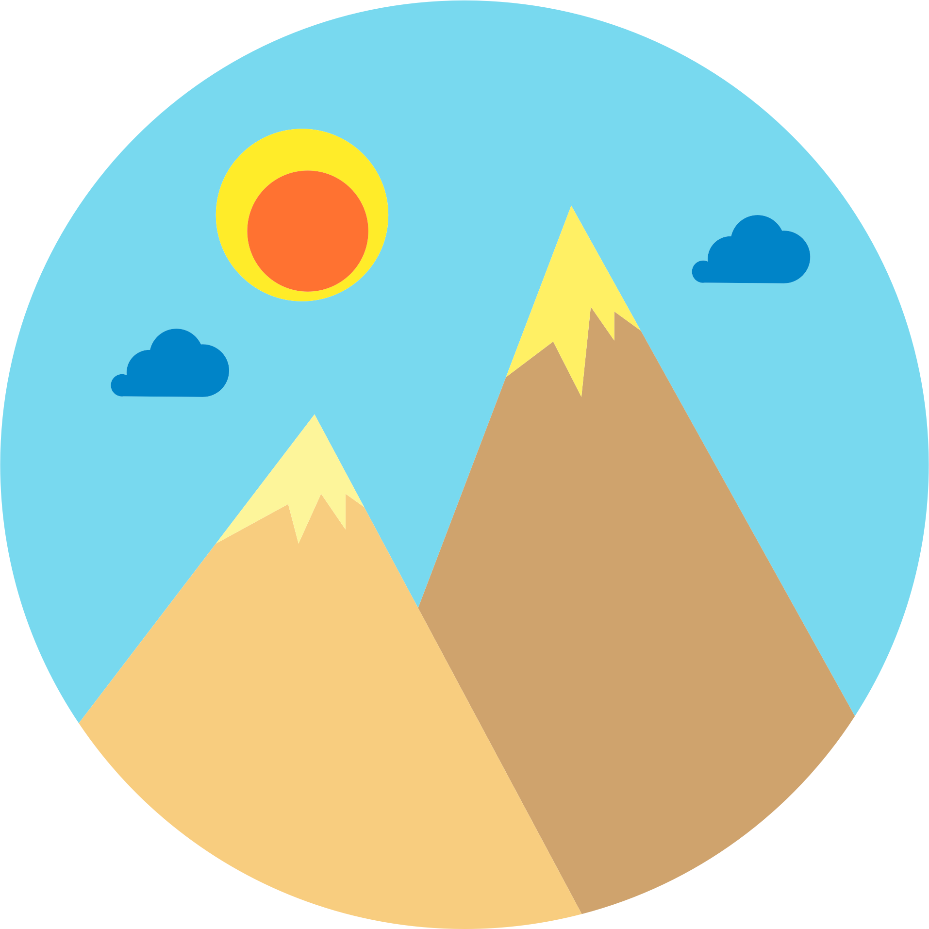 Gallery For > Open Clipart Mountains