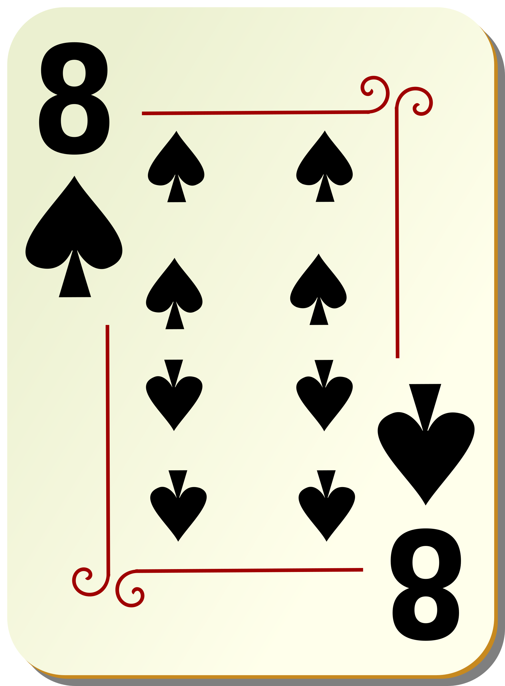 Ornamental deck: 8 of spades by nicubunu