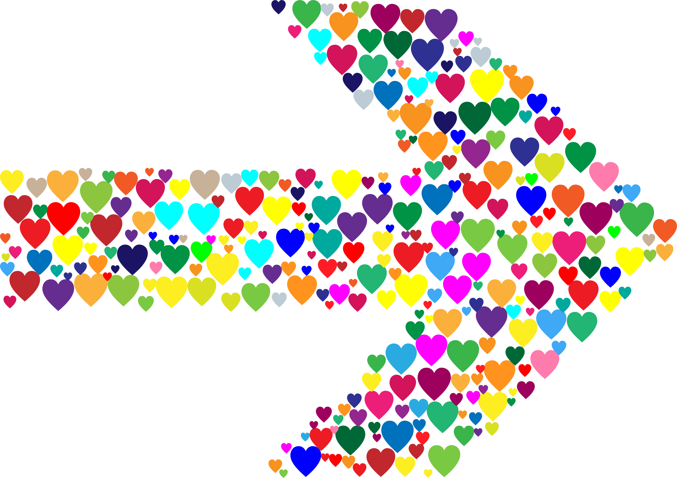 Colorful Hearts Arrow by GDJ