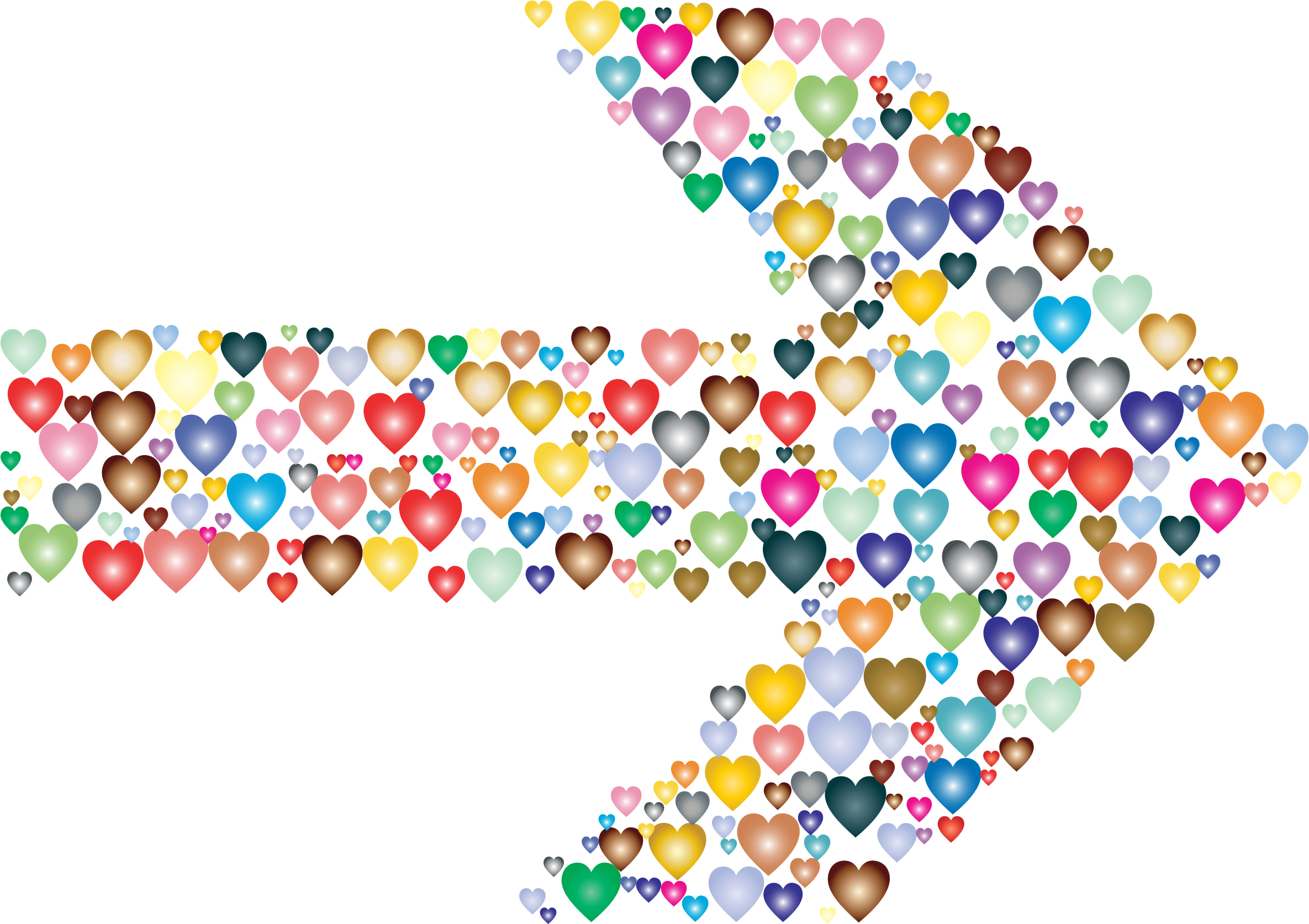 Colorful Hearts Arrow 2 by GDJ
