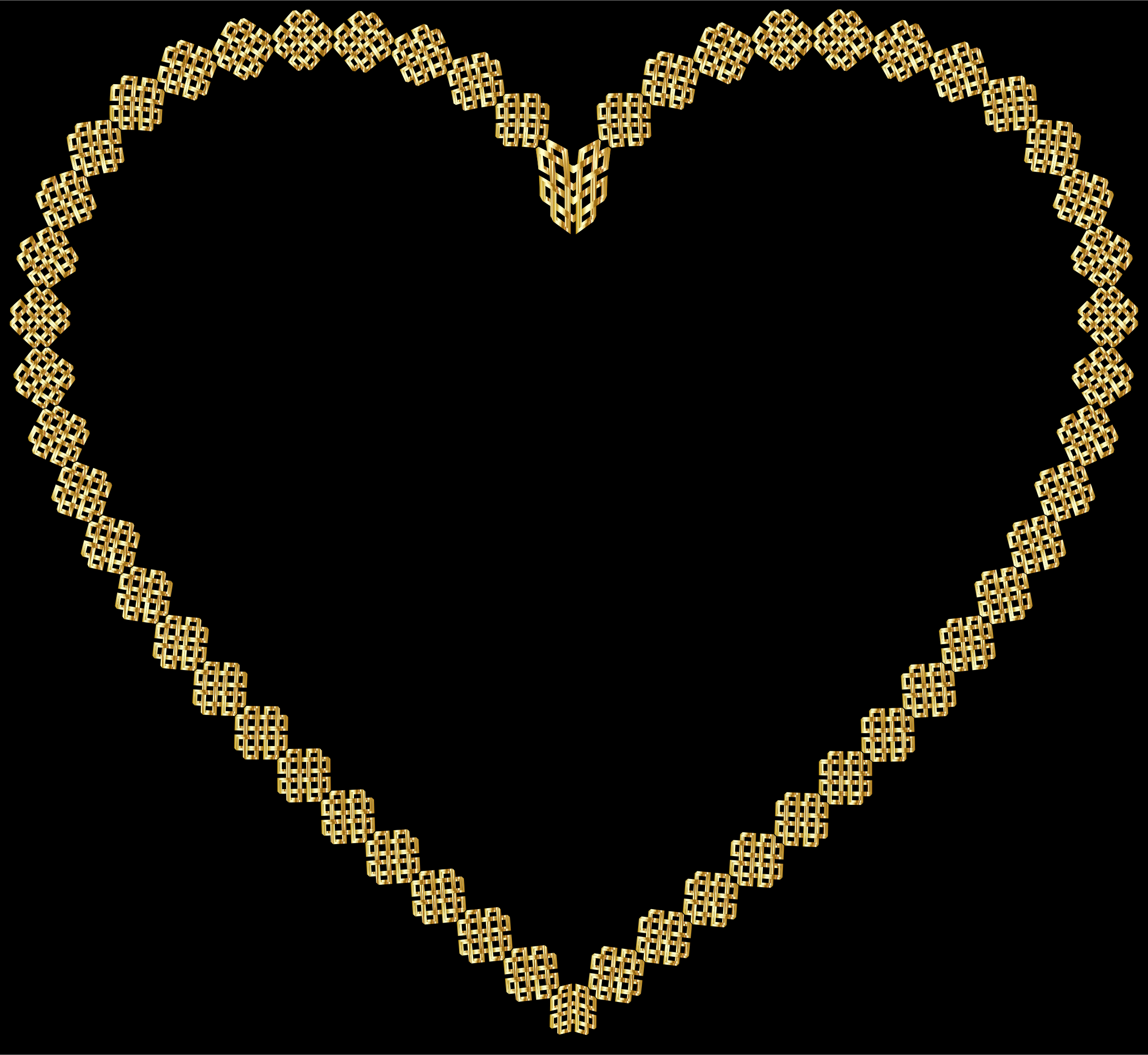 Gold Lattice Heart by GDJ