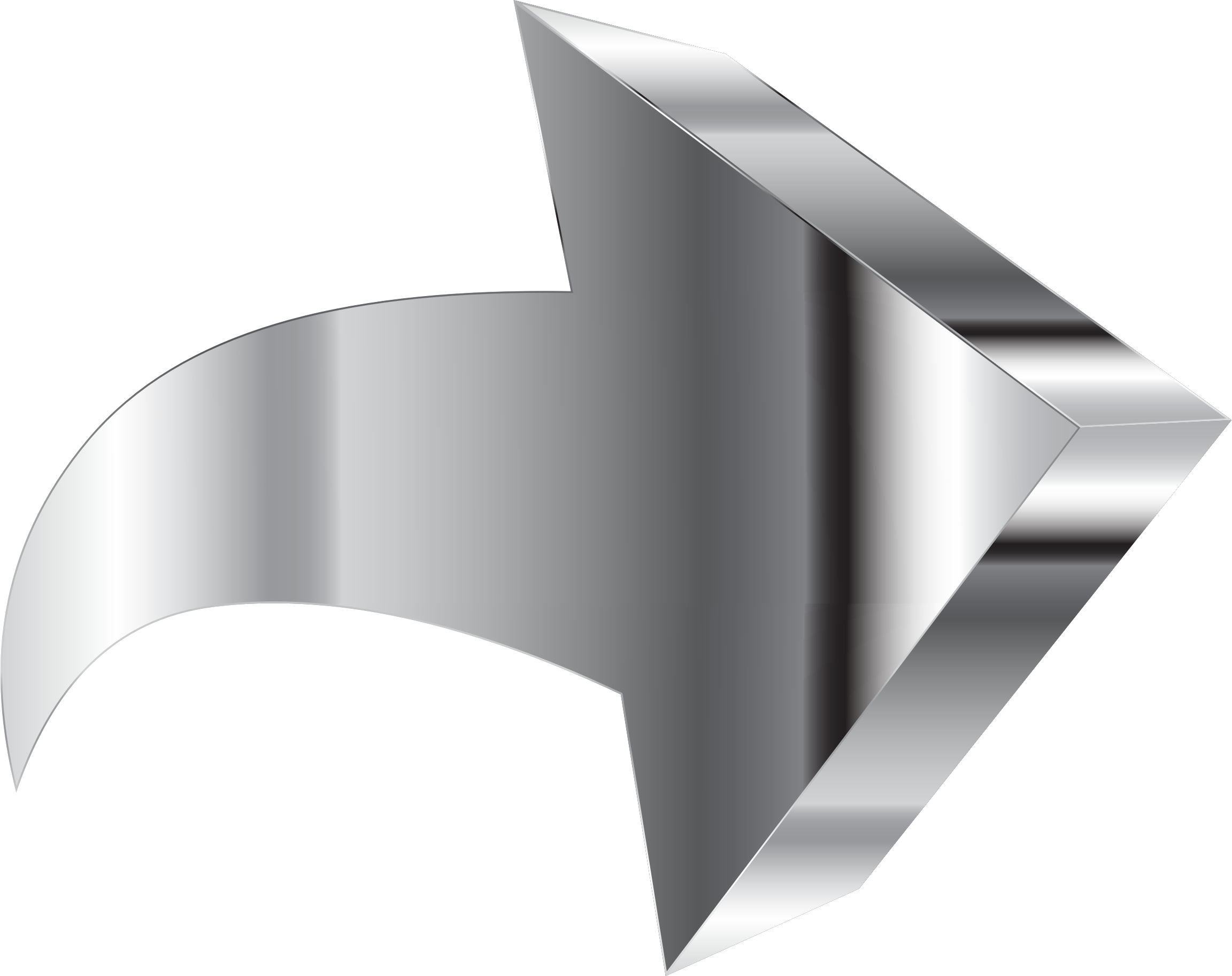 Shiny Chrome 3D Arrow by GDJ
