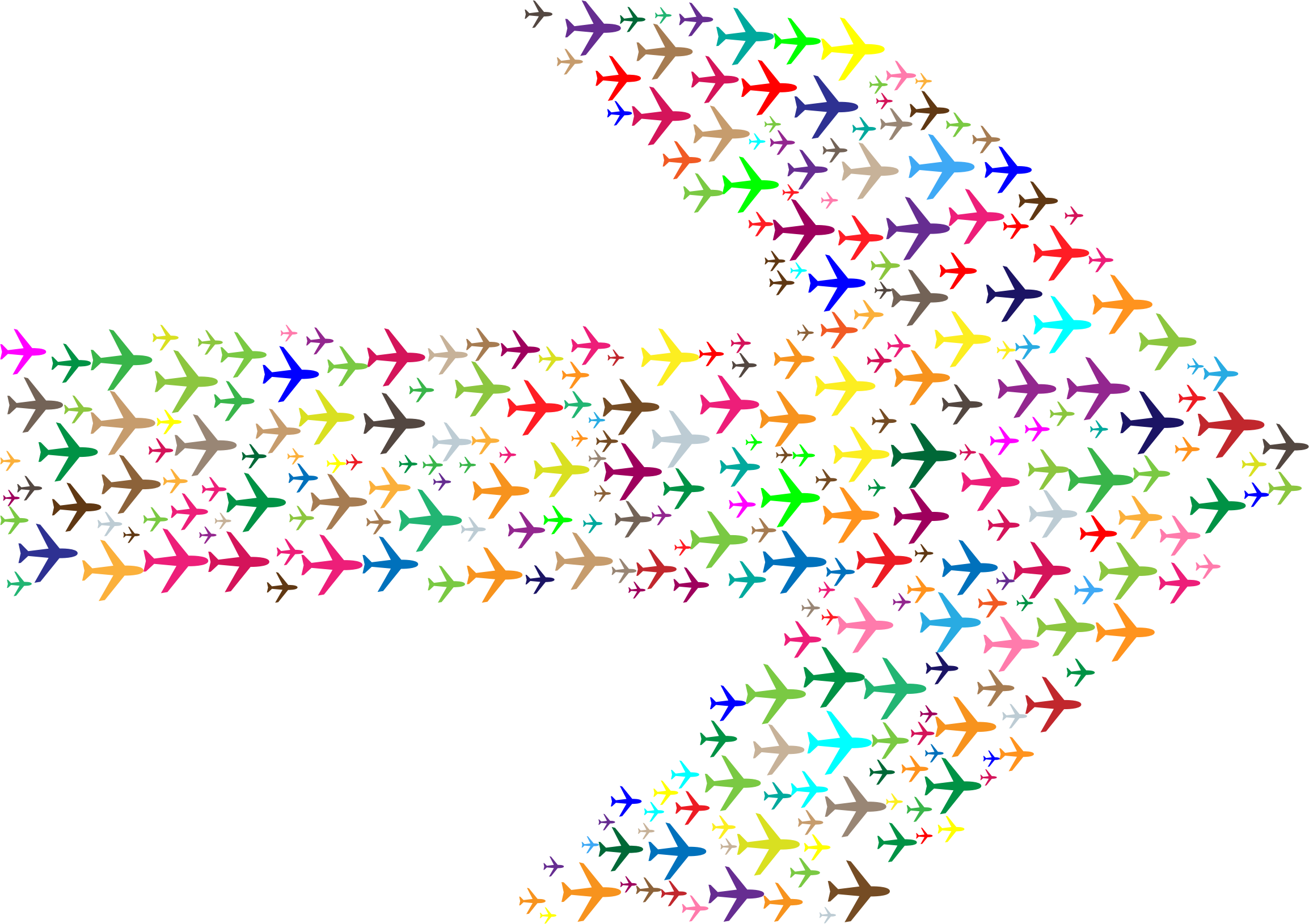 Colorful Planes Arrow by GDJ