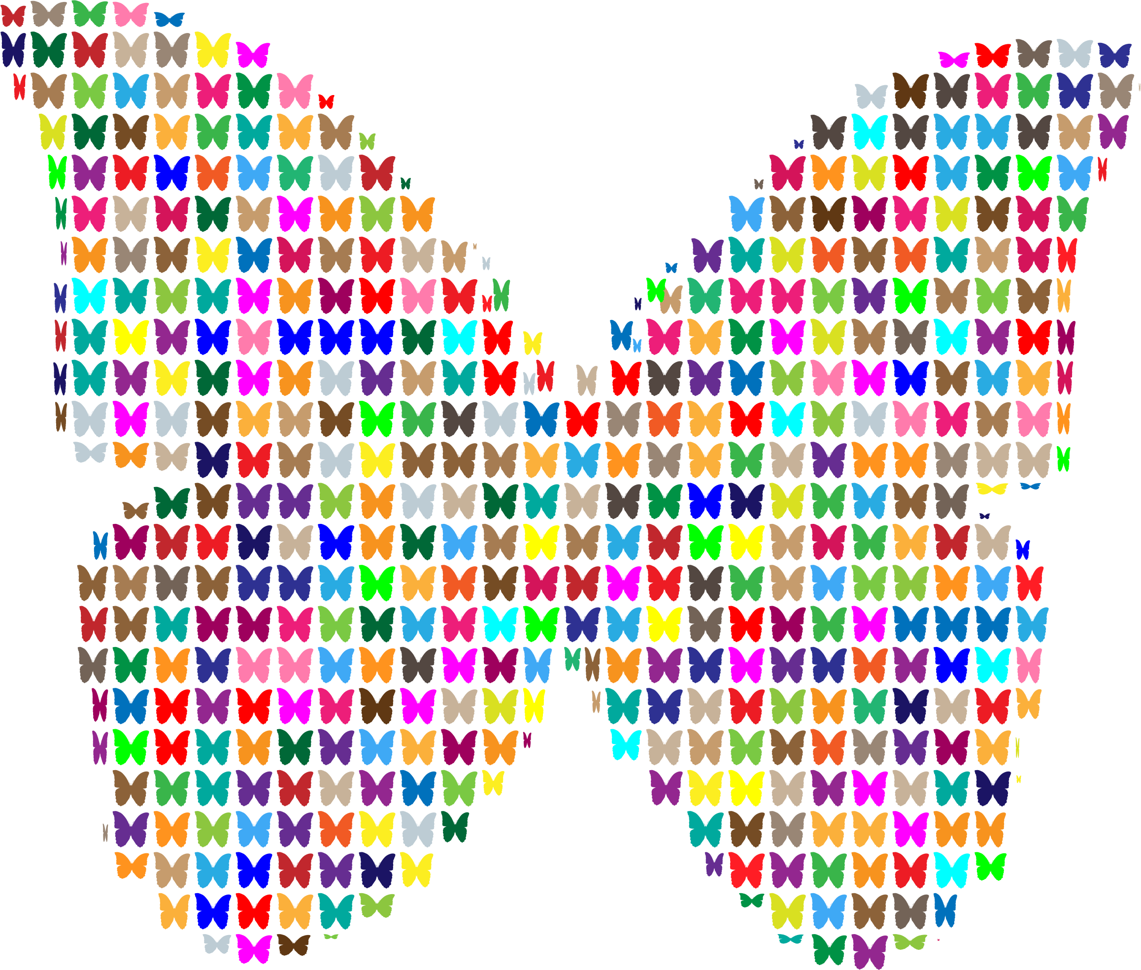Colorful Butterfly Fractal by GDJ