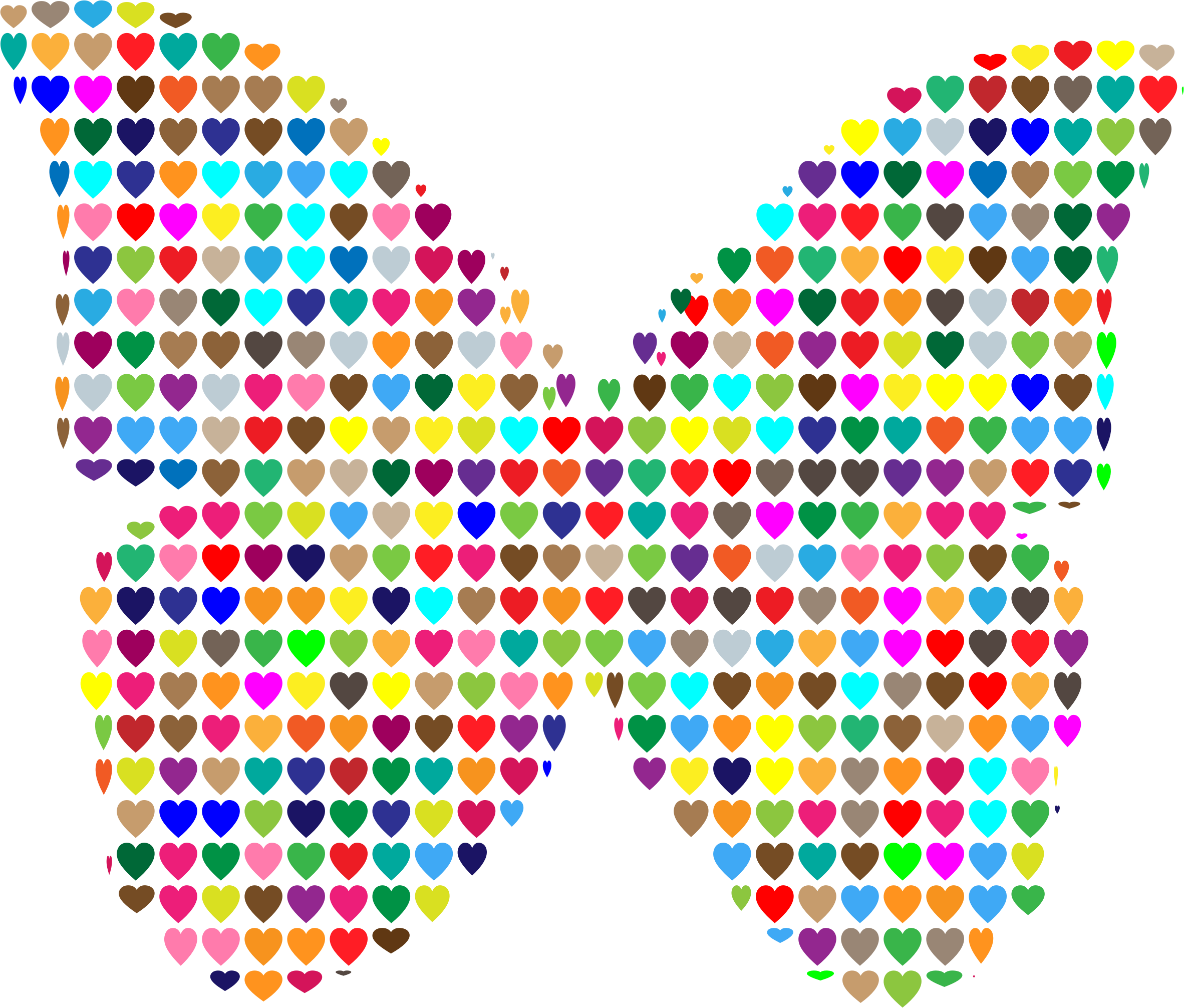 Colorful Hearts Butterfly by GDJ