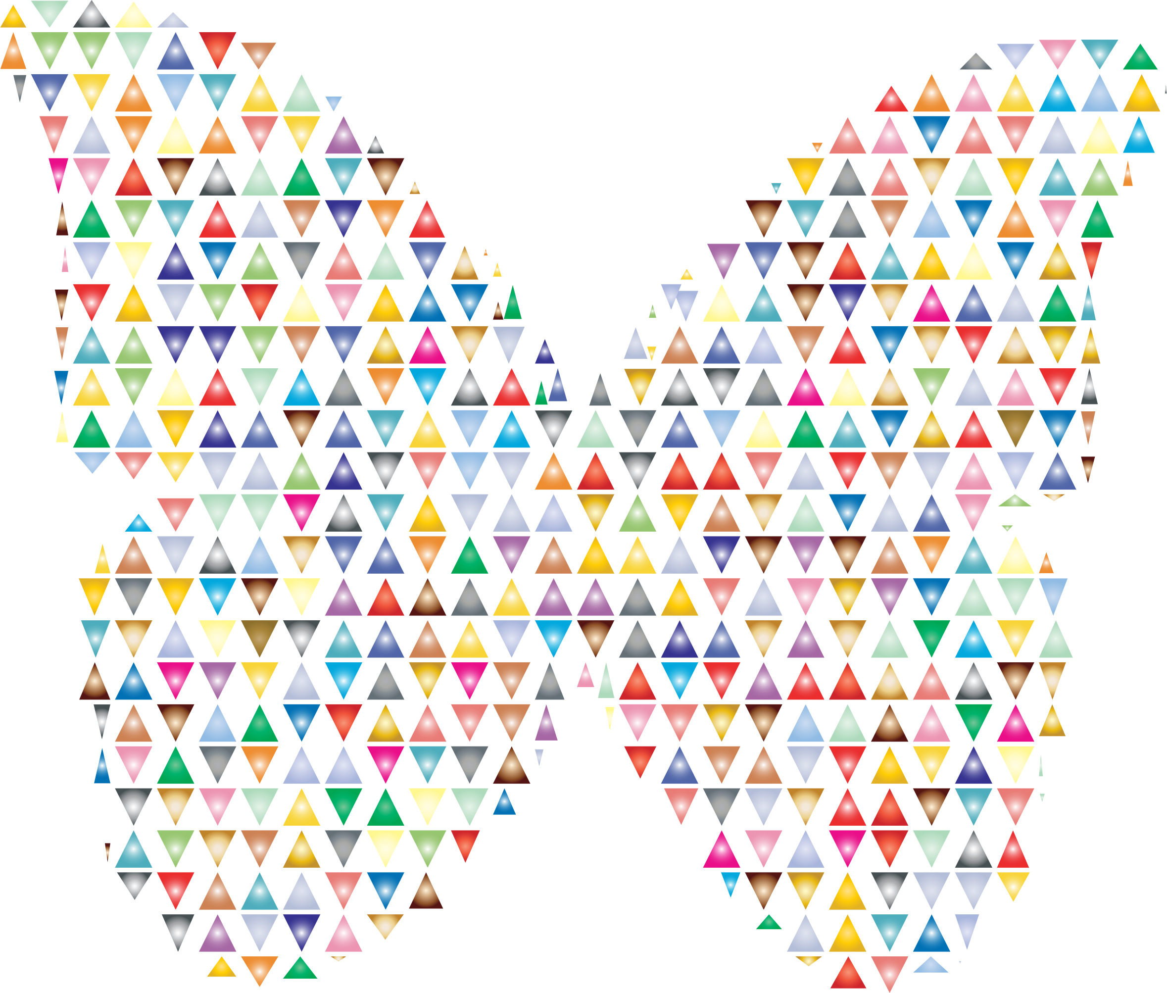 Clipart - Colorful Triangles Butterfly 2