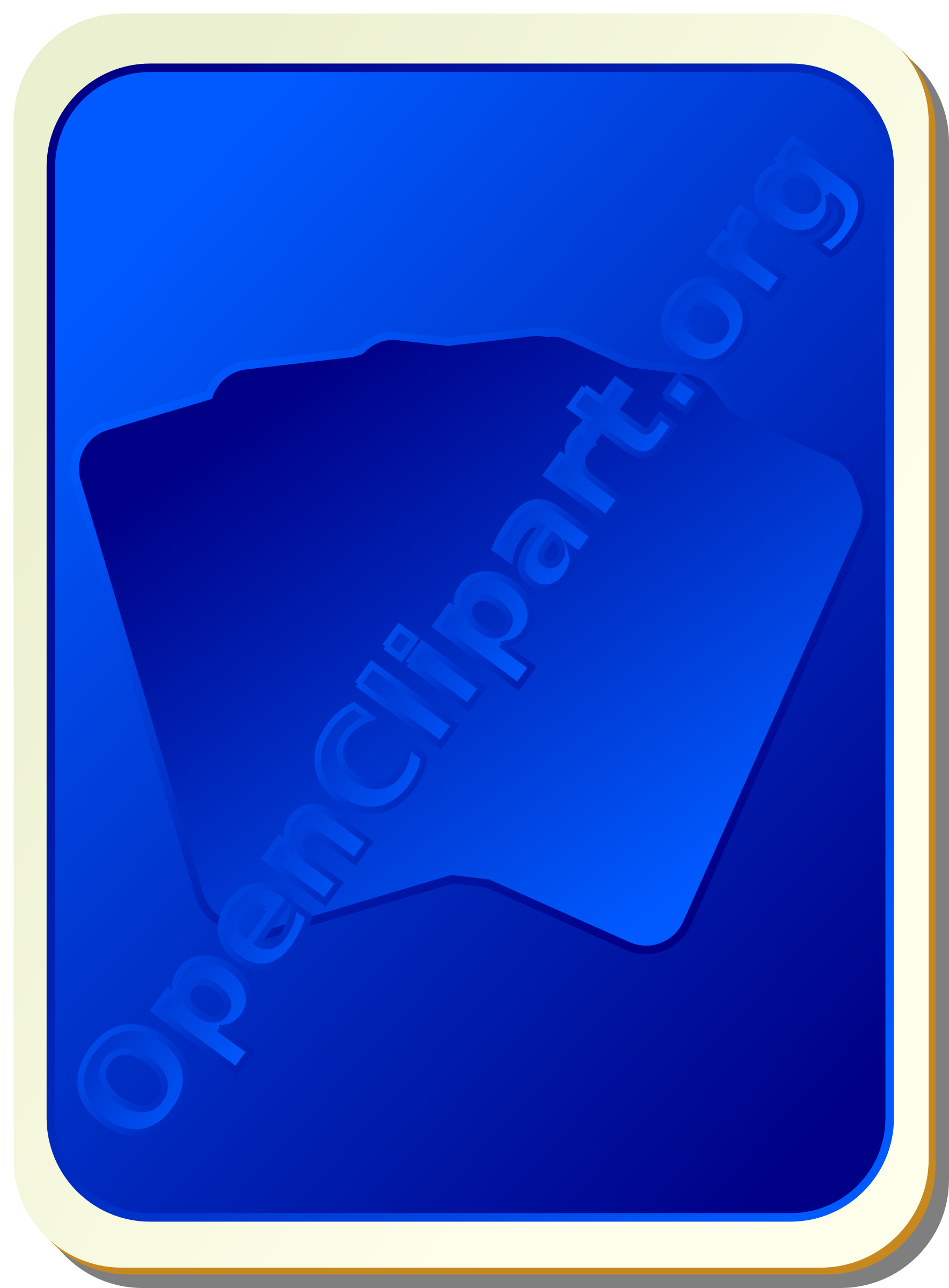 Card backs: silhouette blue by nicubunu