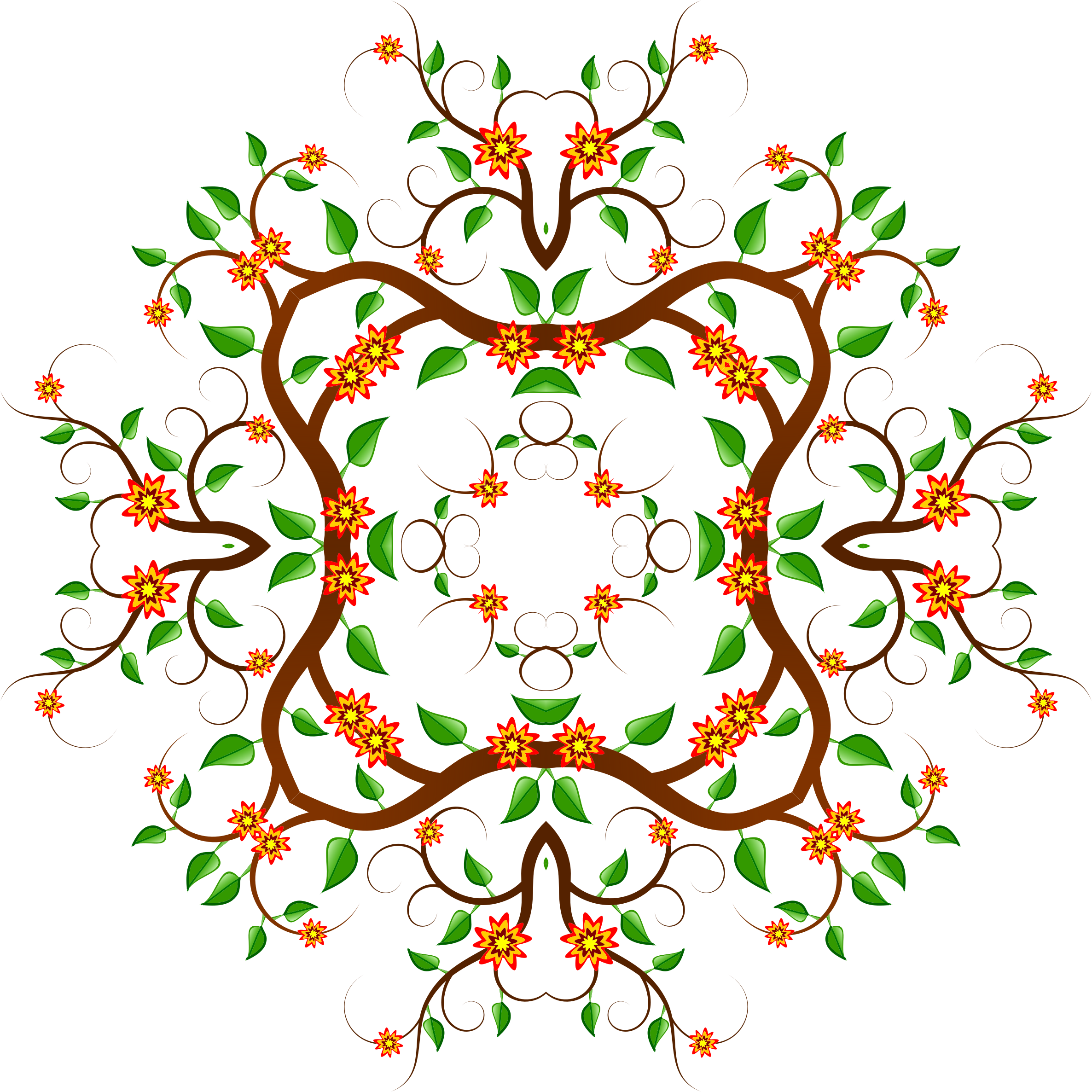 Floral Tree Design 5 by GDJ