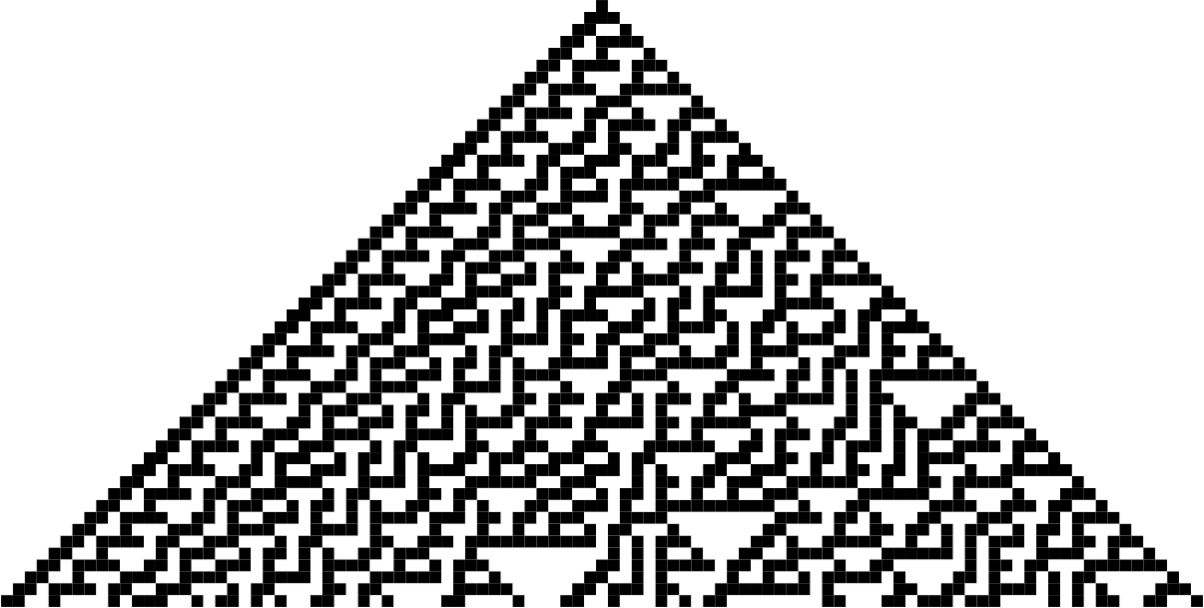 Cellular Automata - Rule 30 by jgmor6