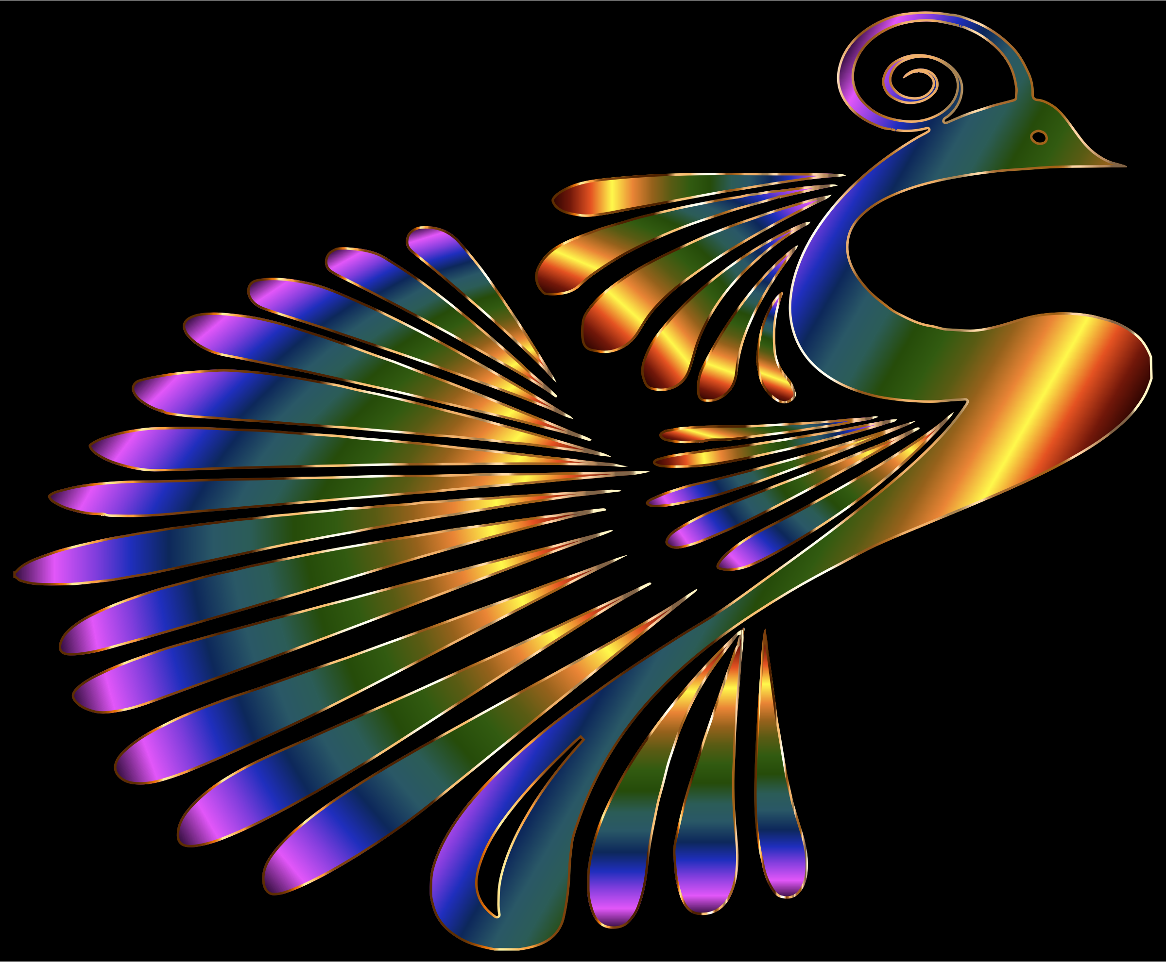 Colorful Stylized Peacock 5 by GDJ