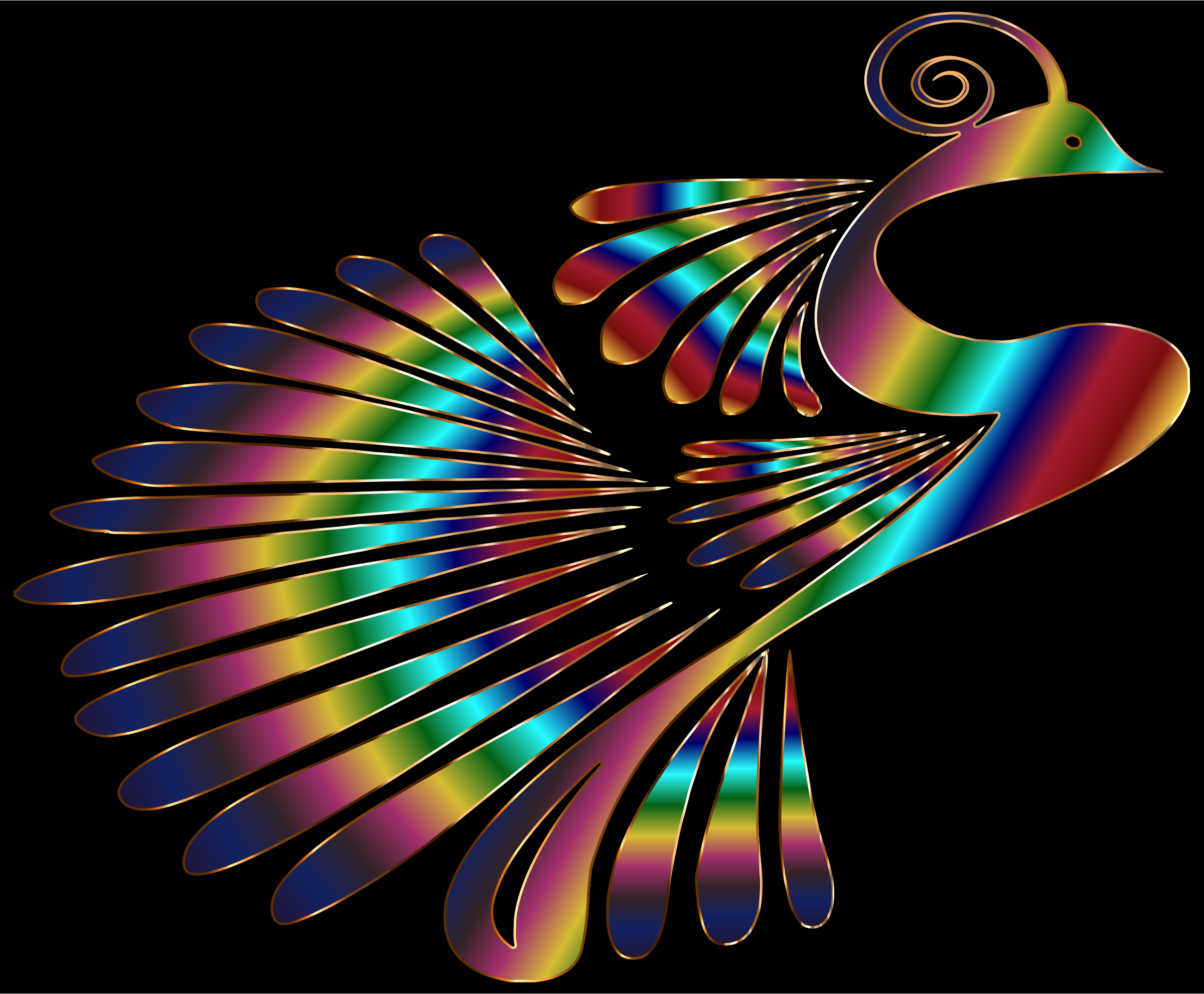 Colorful Stylized Peacock 7 by GDJ