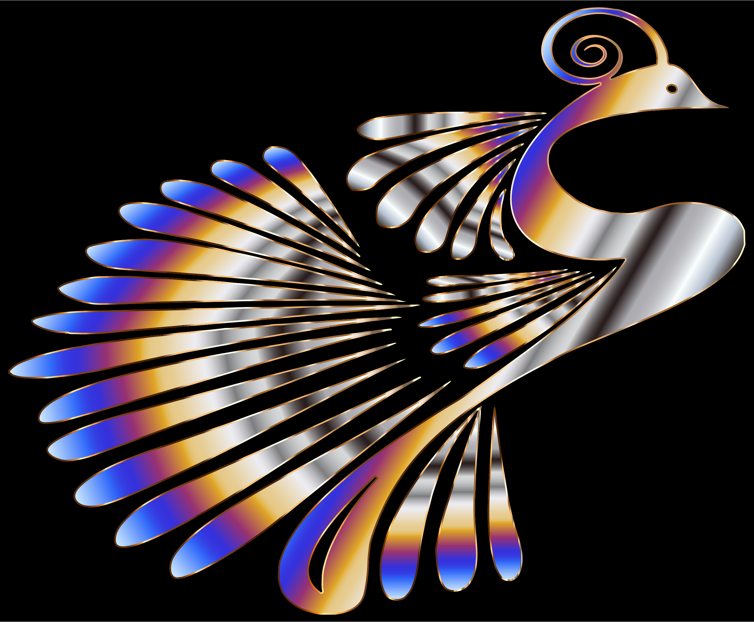 Colorful Stylized Peacock 8 by GDJ