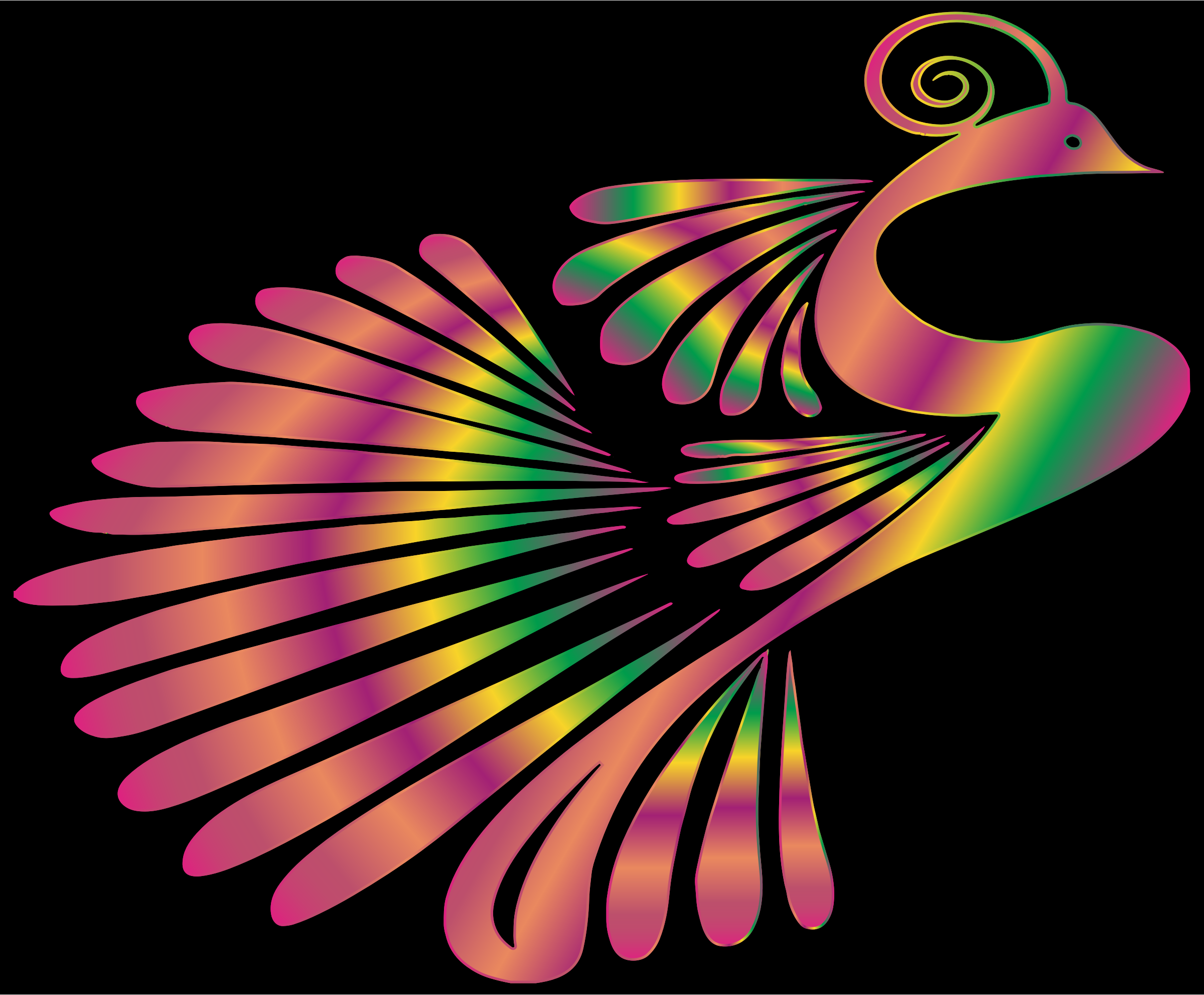 Colorful Stylized Peacock 11 by GDJ