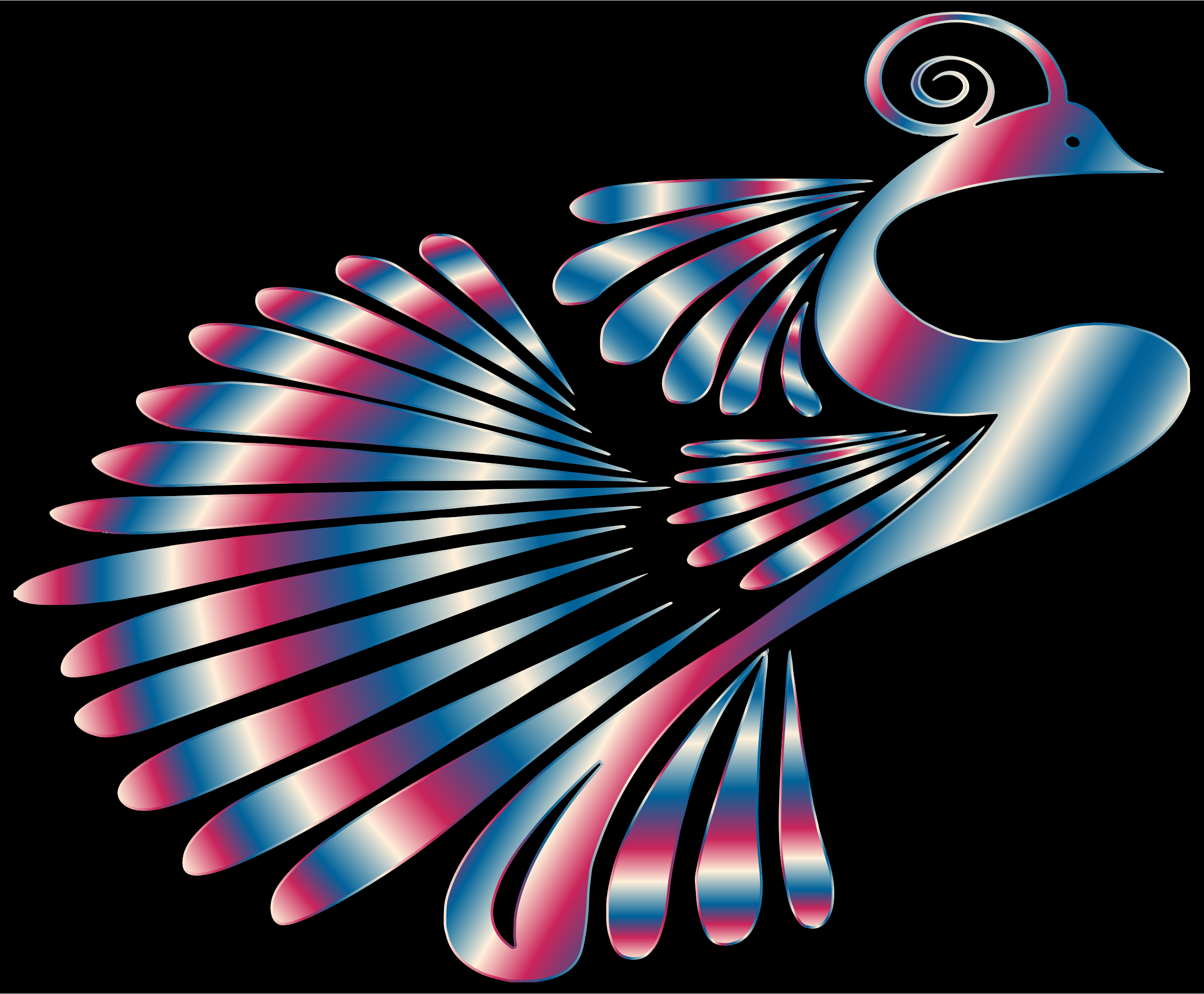 Colorful Stylized Peacock 12 by GDJ