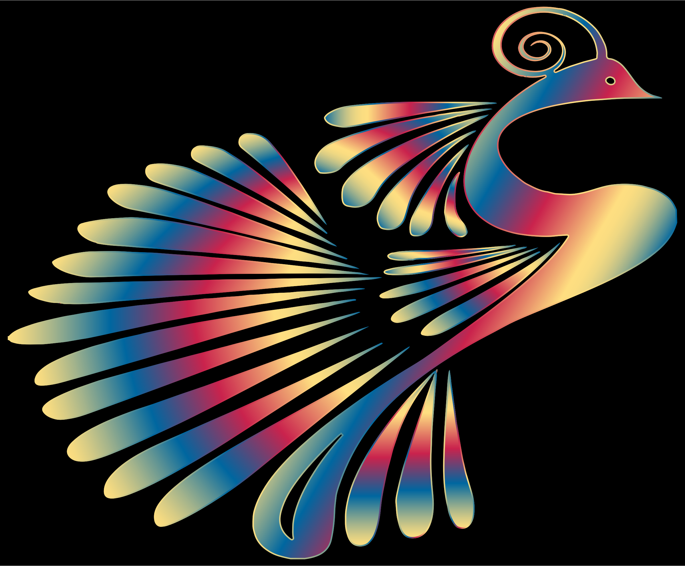 Colorful Stylized Peacock 13 by GDJ