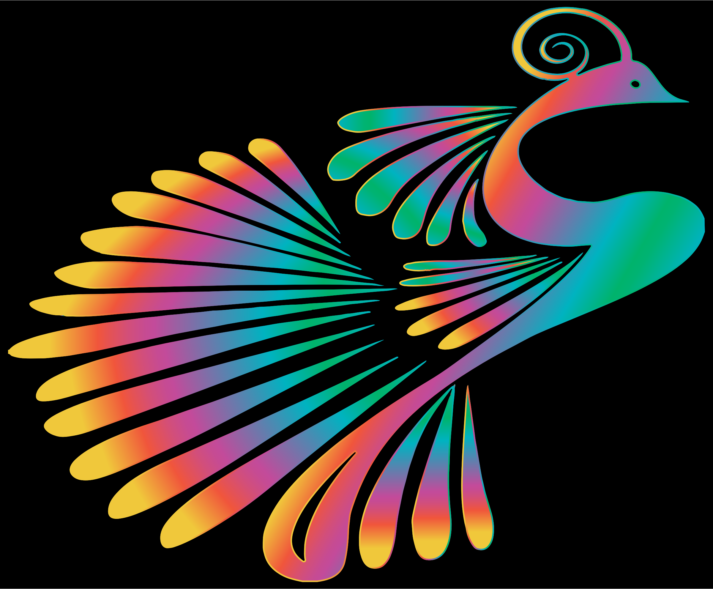 Colorful Stylized Peacock 15 by GDJ