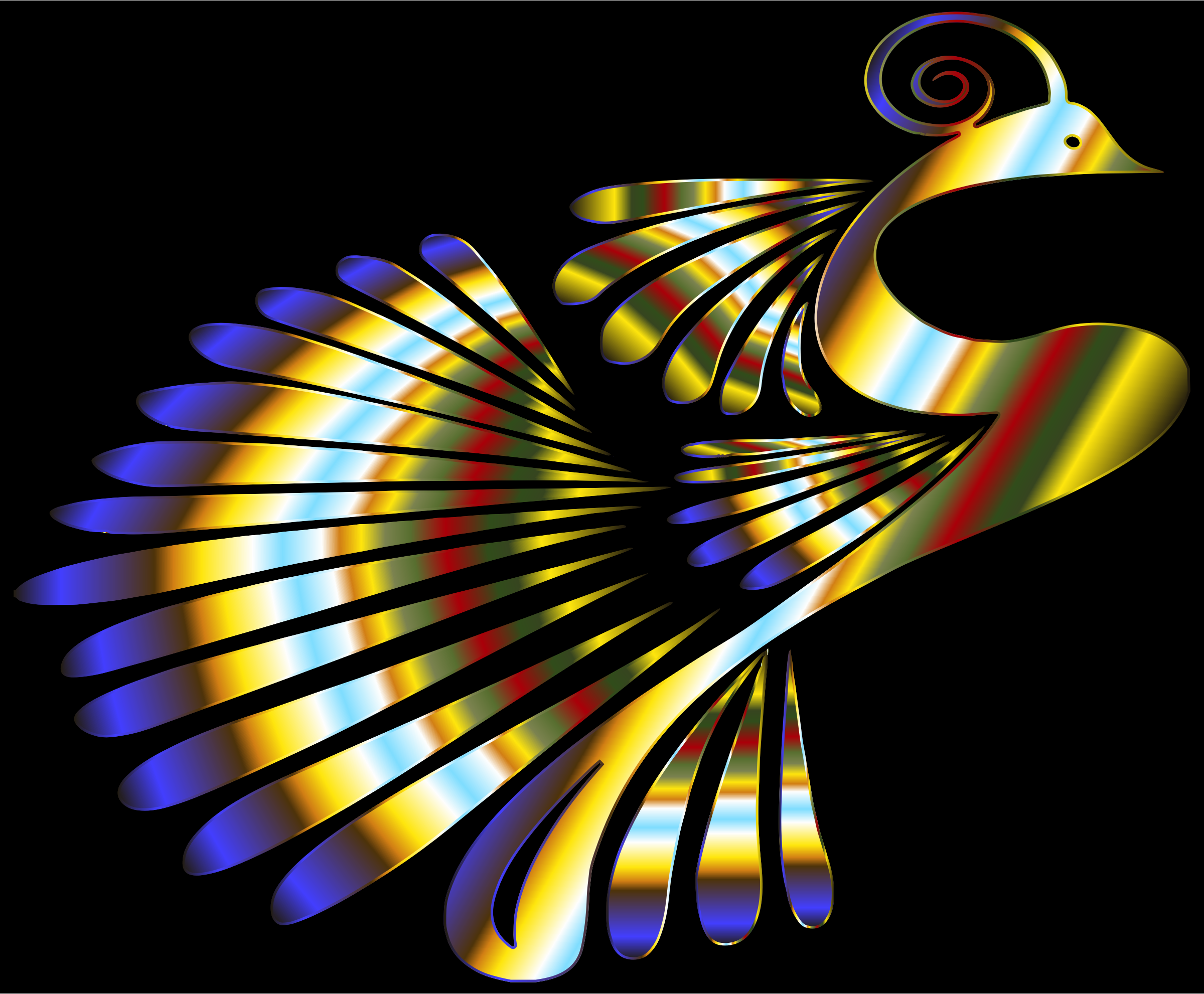 Colorful Stylized Peacock 17 by GDJ