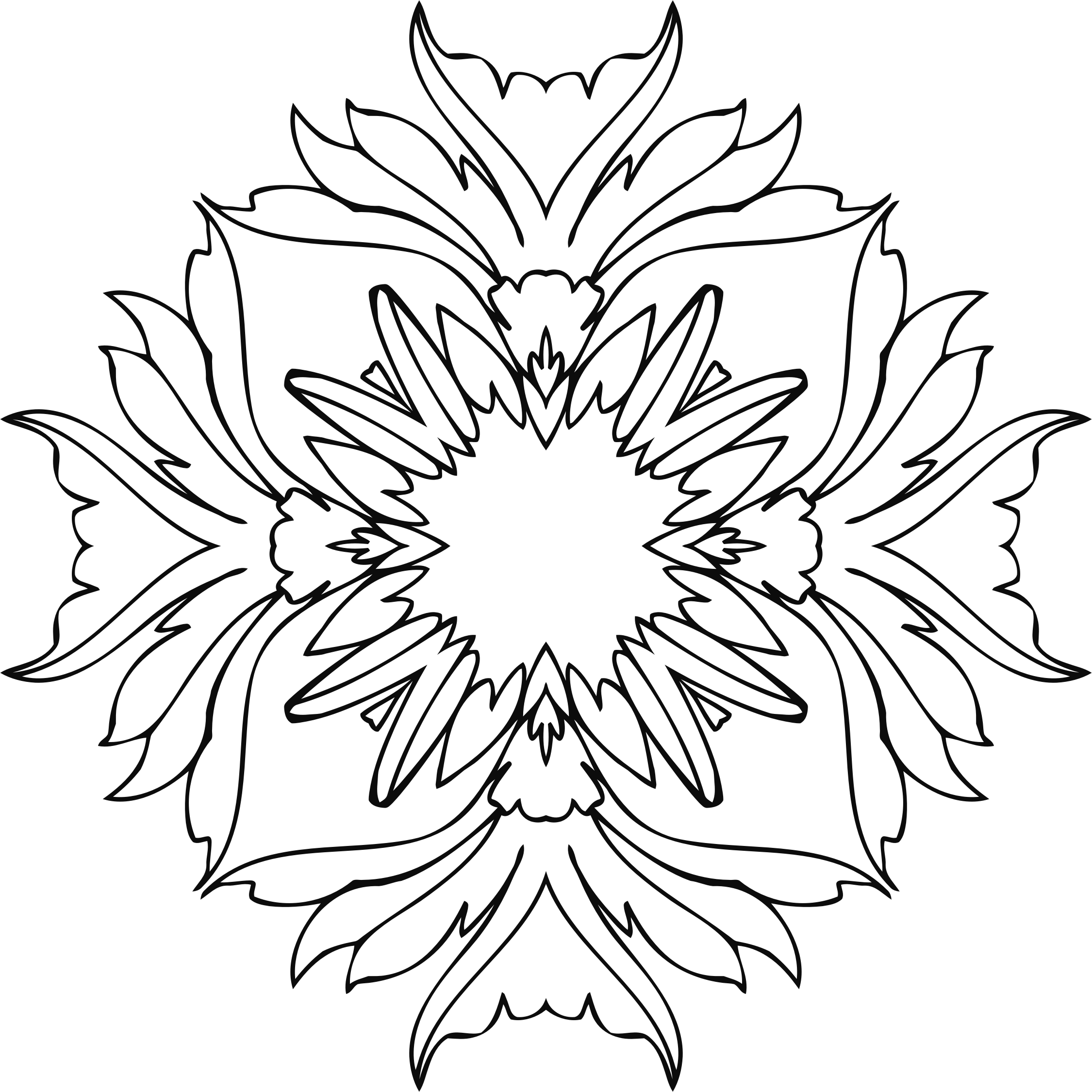 Line Art Flower Png : Clipart flower line art