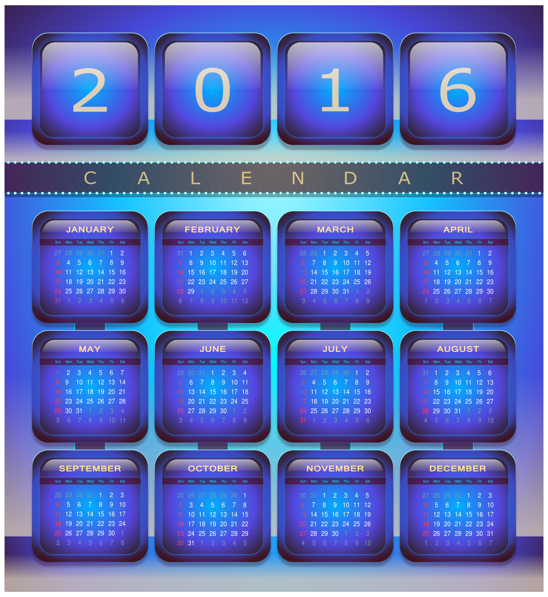 Calendar 2016 by Viscious-Speed