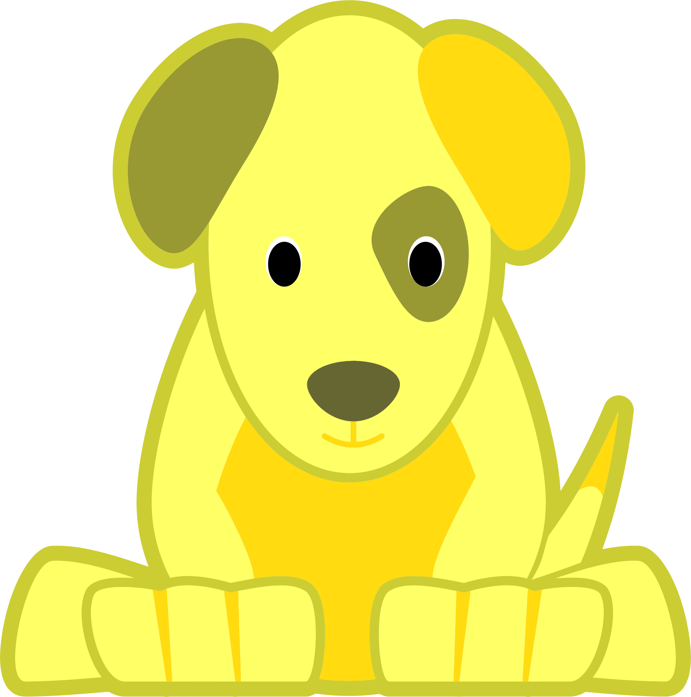 Yellow Dog Clipart Yellow Dog Images - Re...