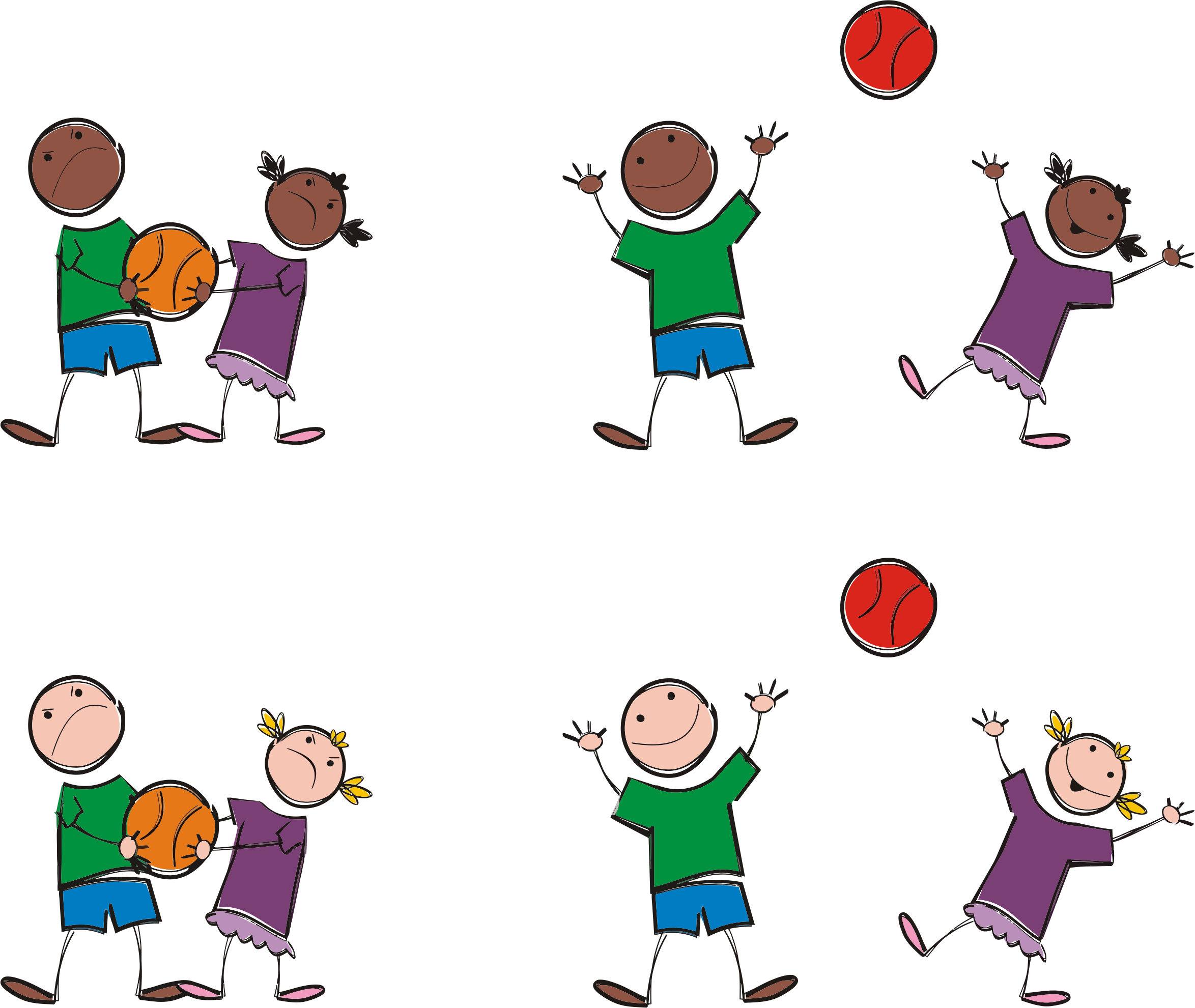 Multicultural Kids Playing Sports by GDJ