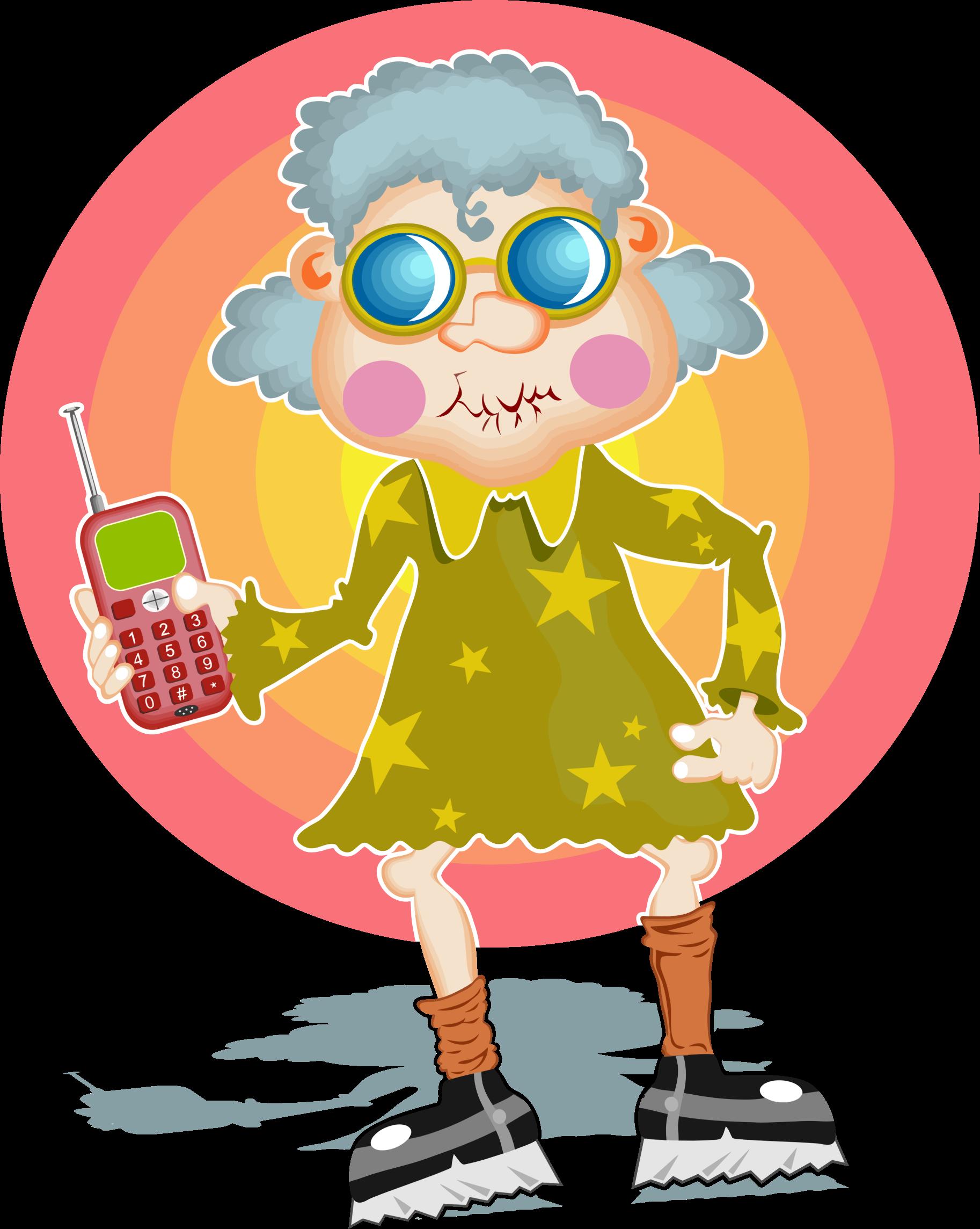 Clipart Groovy Granny