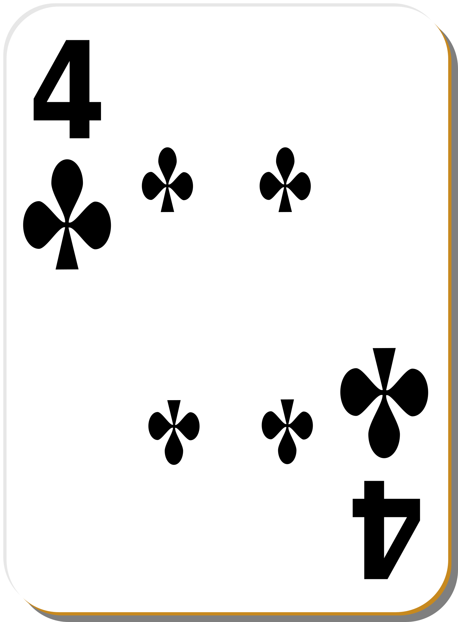 White deck: 4 of clubs by nicubunu