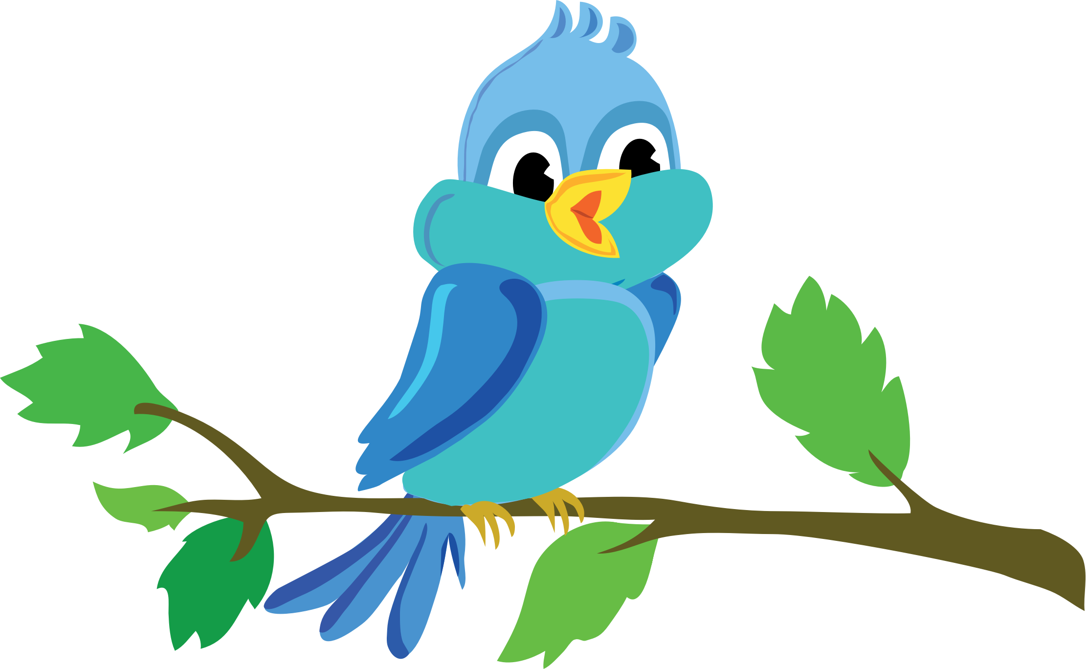 Clipart - Cute Cartoon Bird Chirping