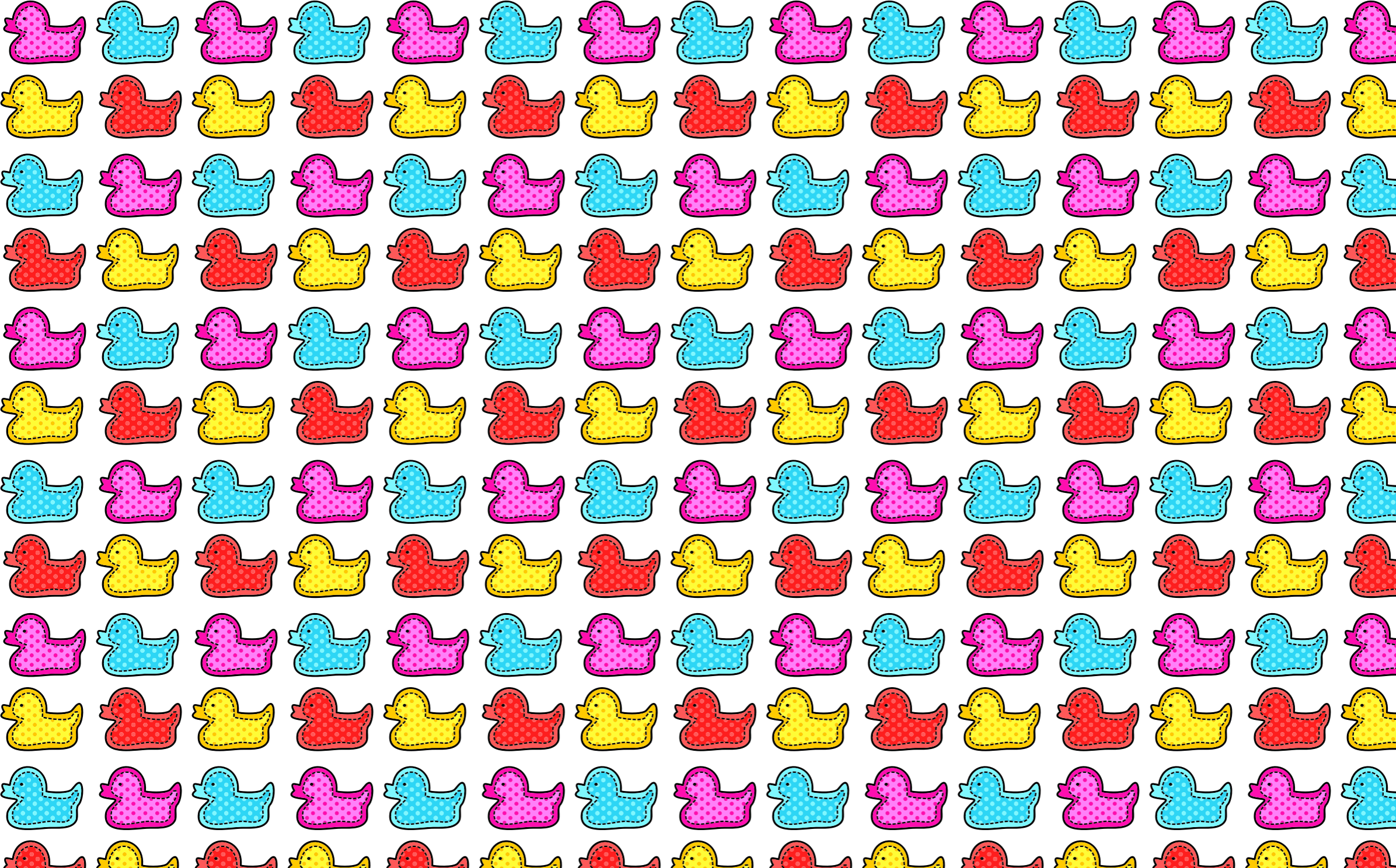 Colorful Stitched Ducks Seamless Pattern by GDJ