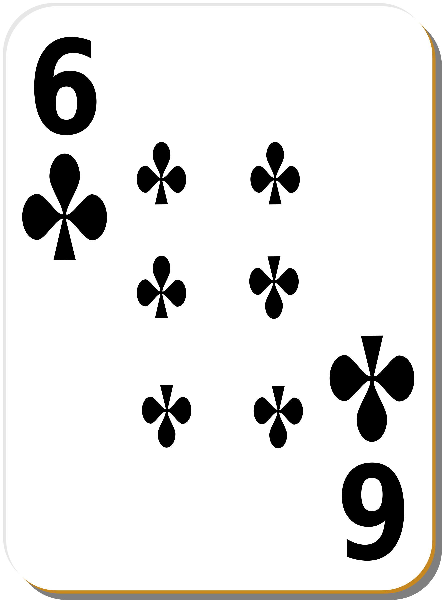 White deck: 6 of clubs by nicubunu