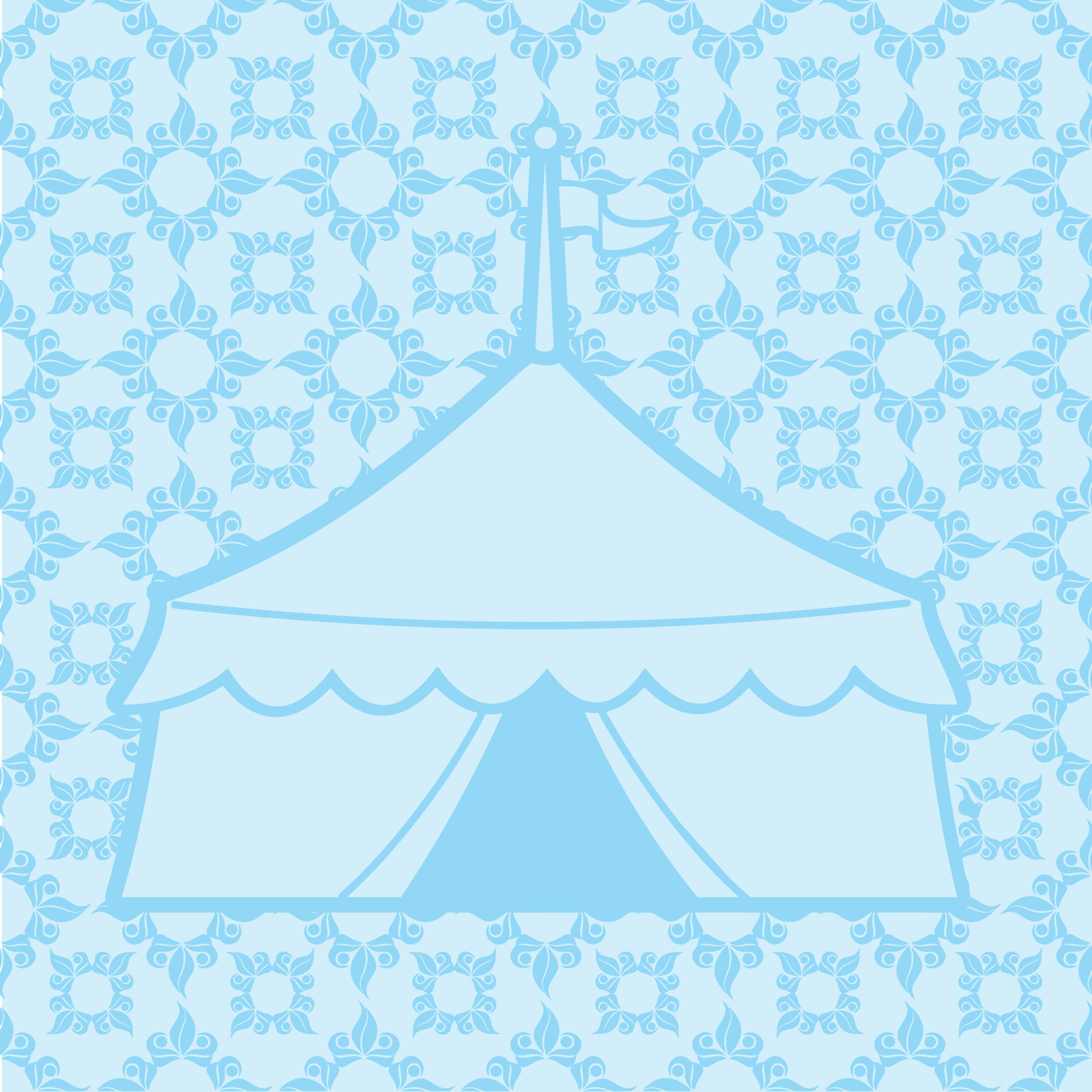 Blue Patterned Circus Tent by GDJ