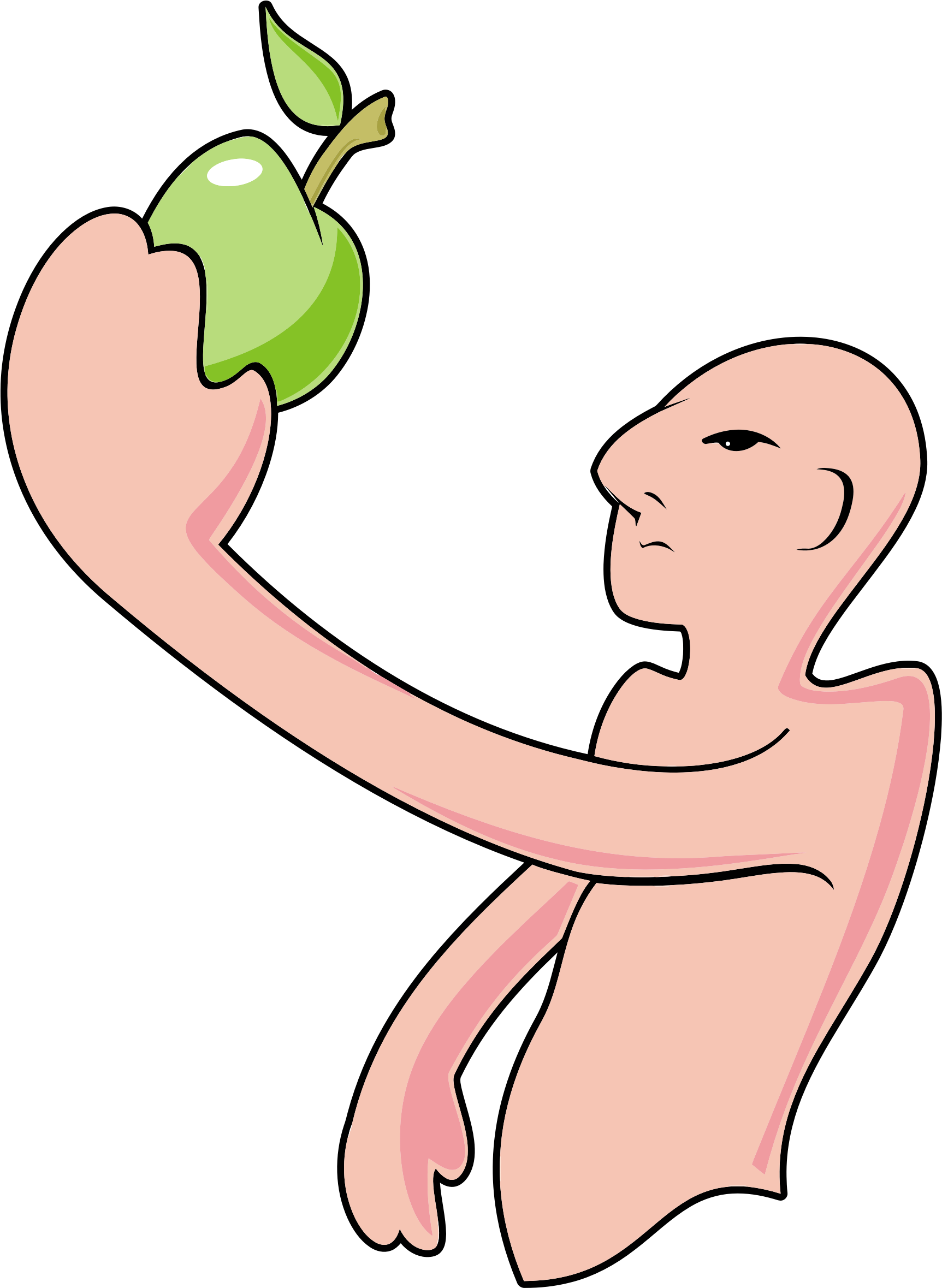Bald Man And The Apple by GDJ
