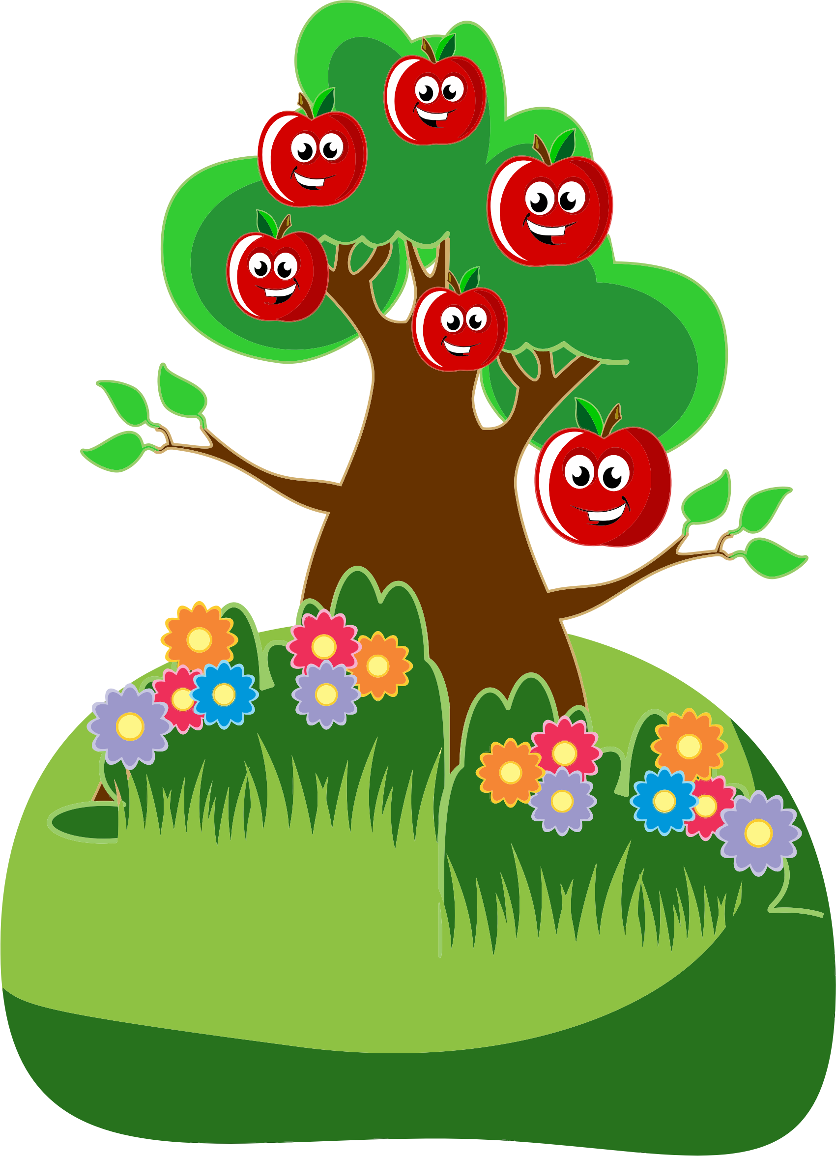 Anthropomorphic Happy Apples Tree by GDJ