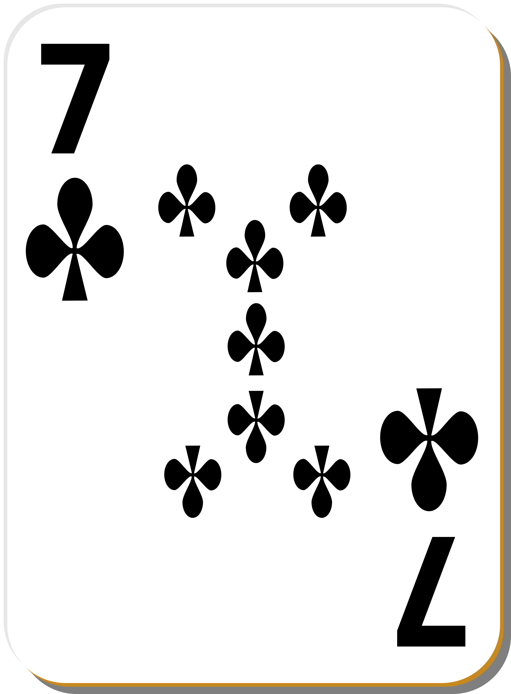White deck: 7 of clubs by nicubunu
