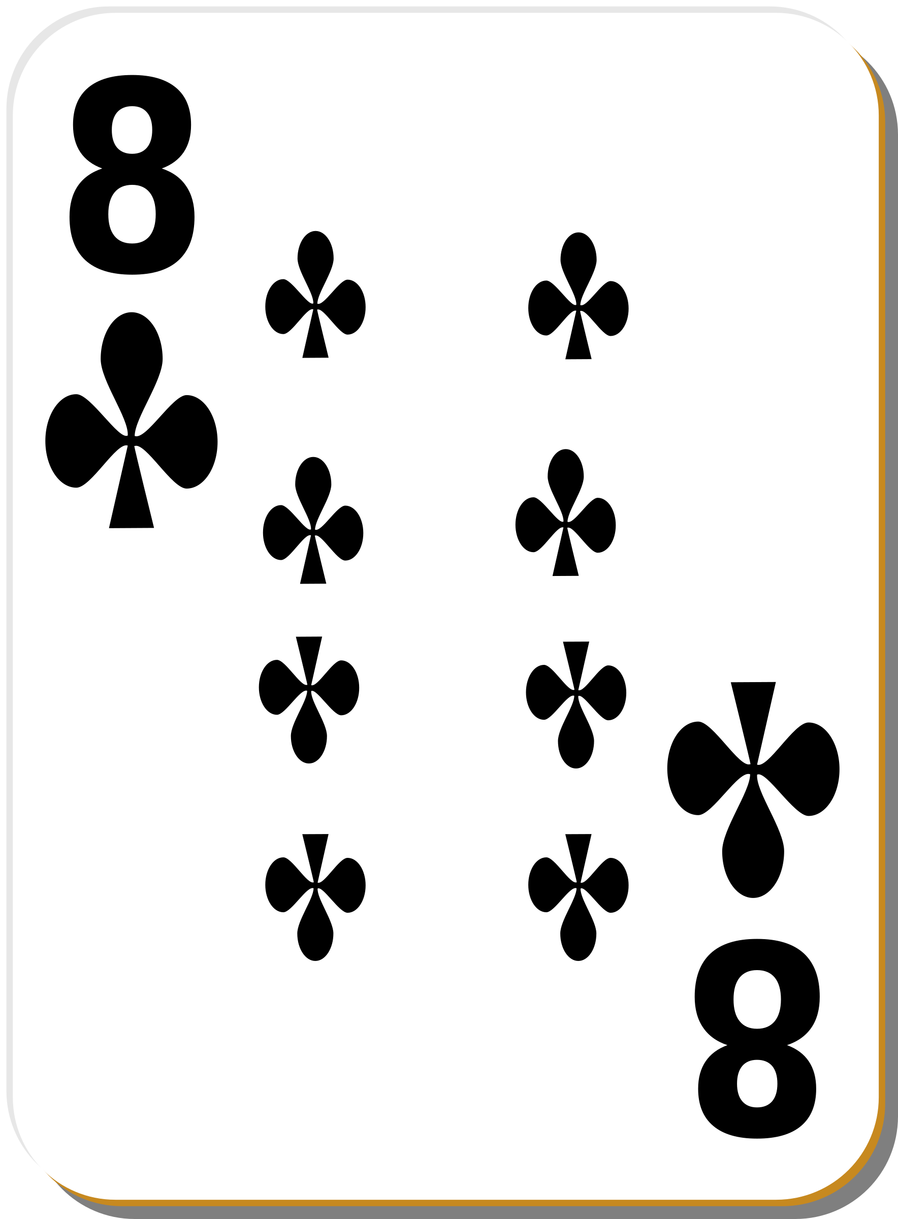 White deck: 8 of clubs by nicubunu