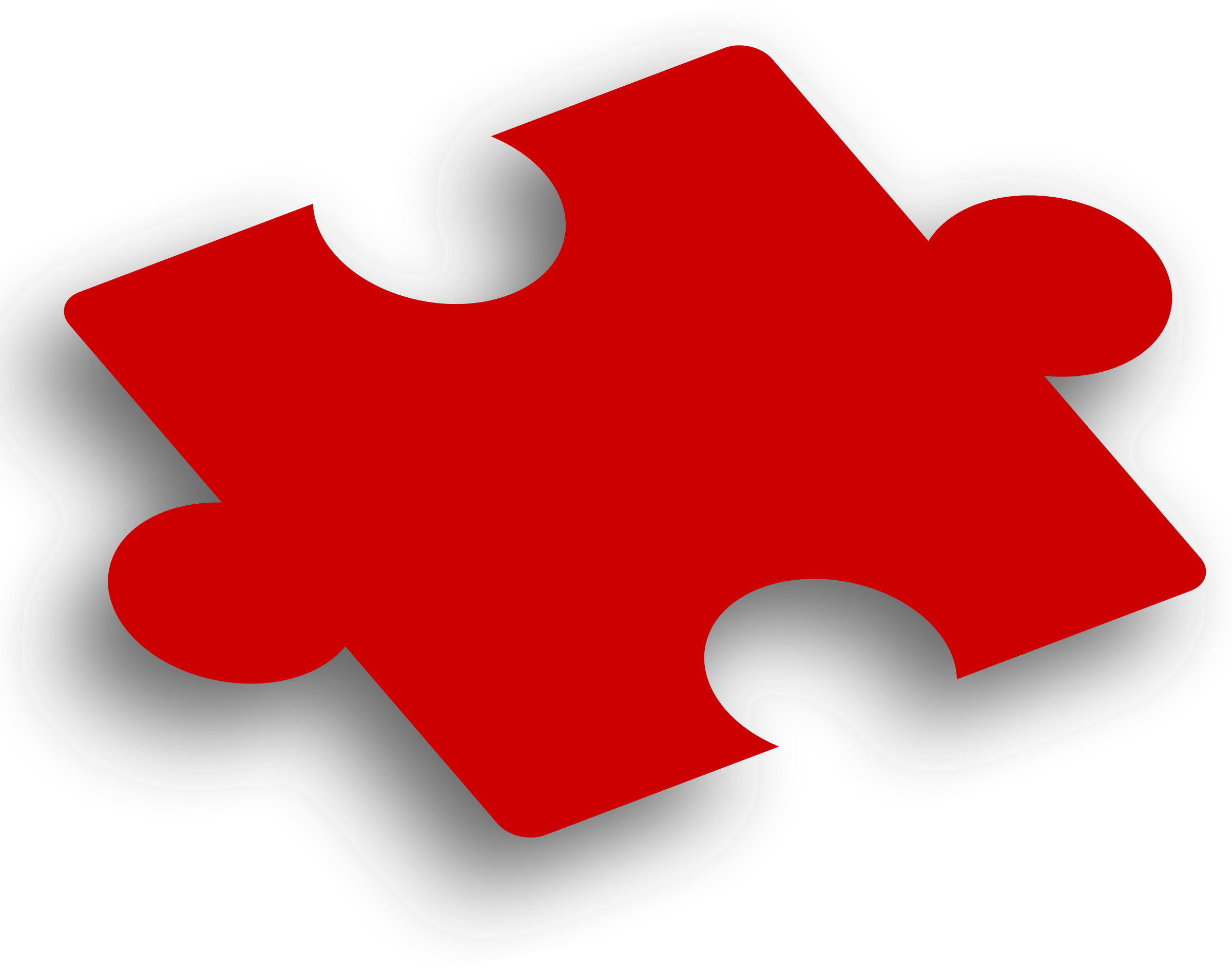 Clipart - Puzzle Piece Red