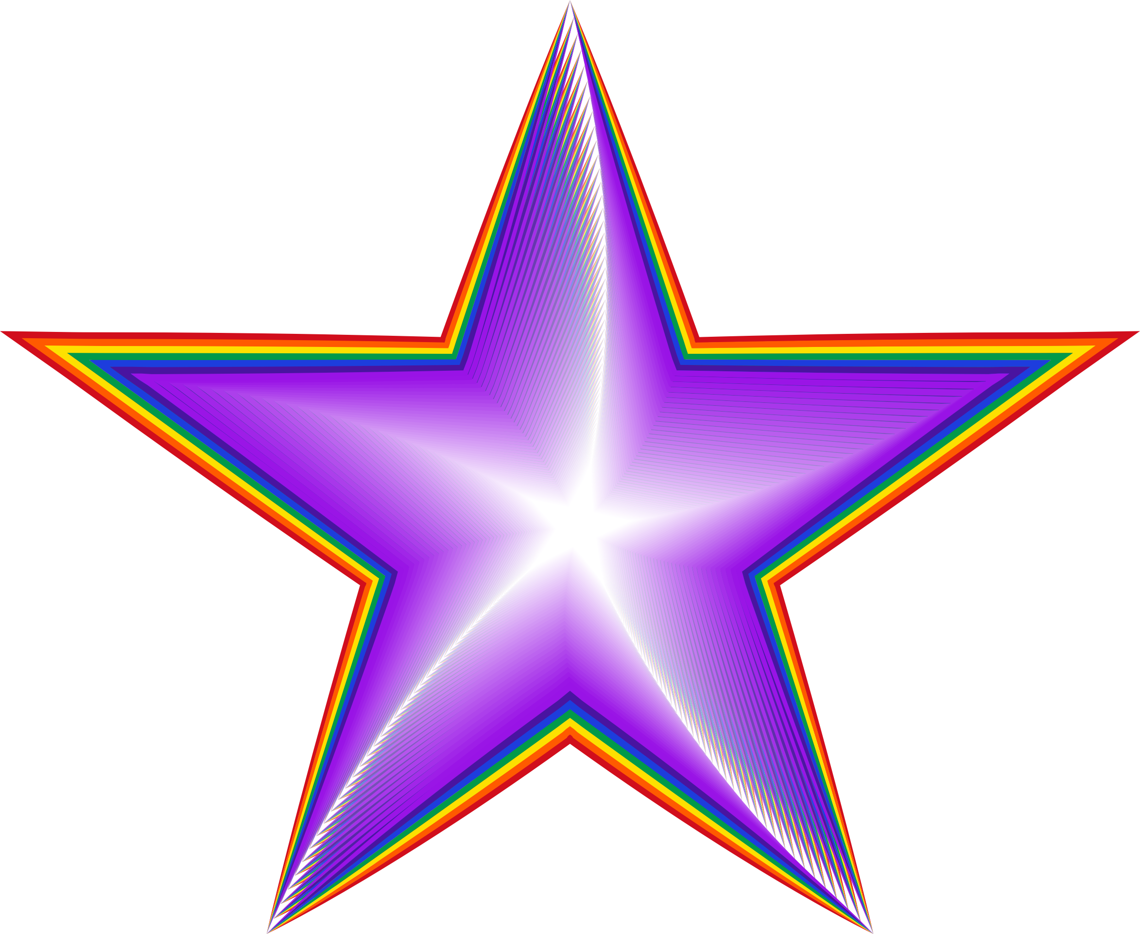Spiritual Rainbow Star by GDJ