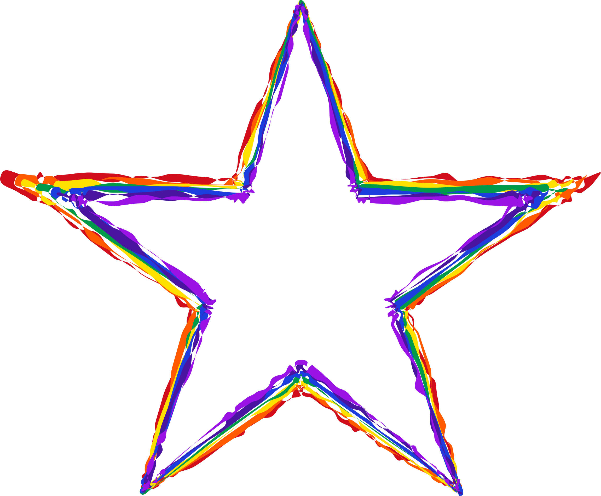 Painted Rainbow Star by GDJ