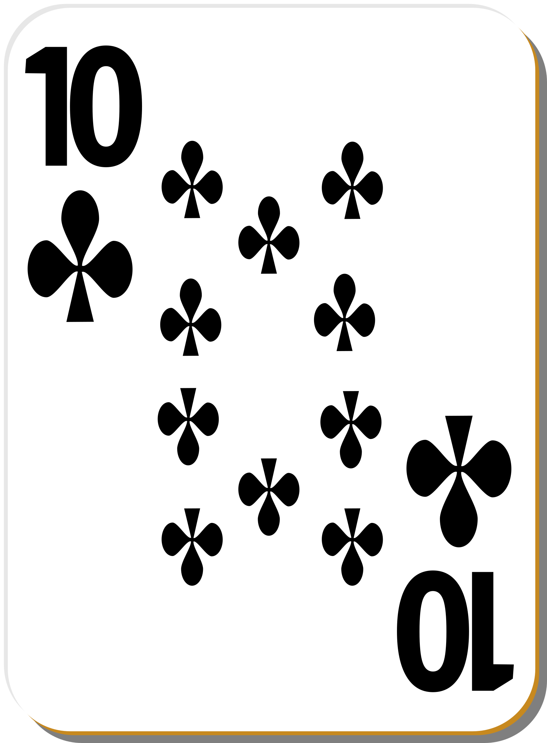 White deck: 10 of clubs by nicubunu