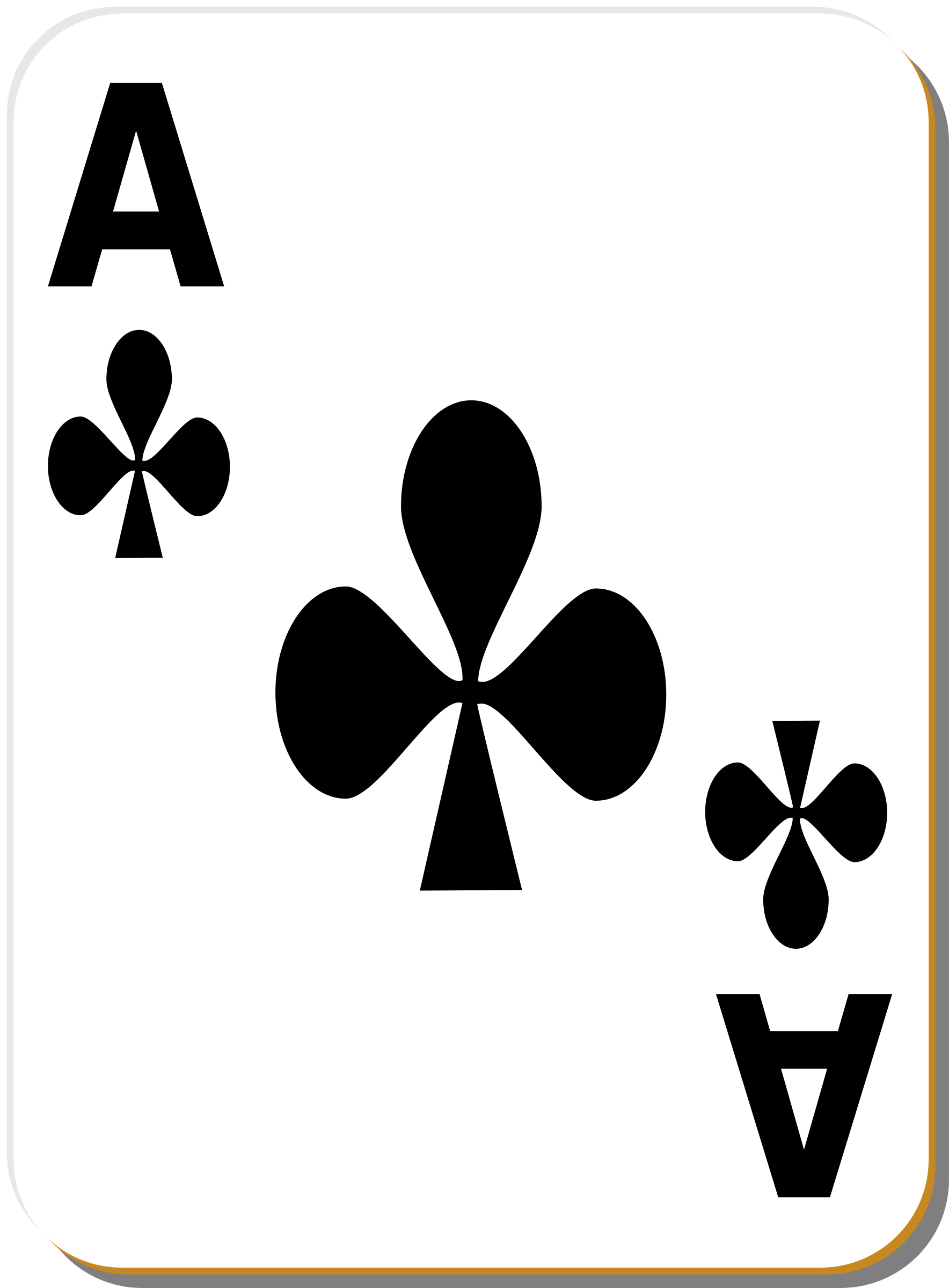 White deck: Ace of clubs by nicubunu