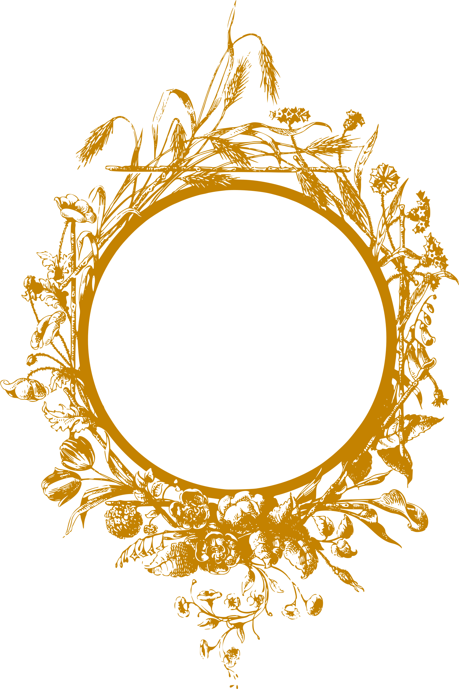 Flowery frame 2 (golden) by Firkin