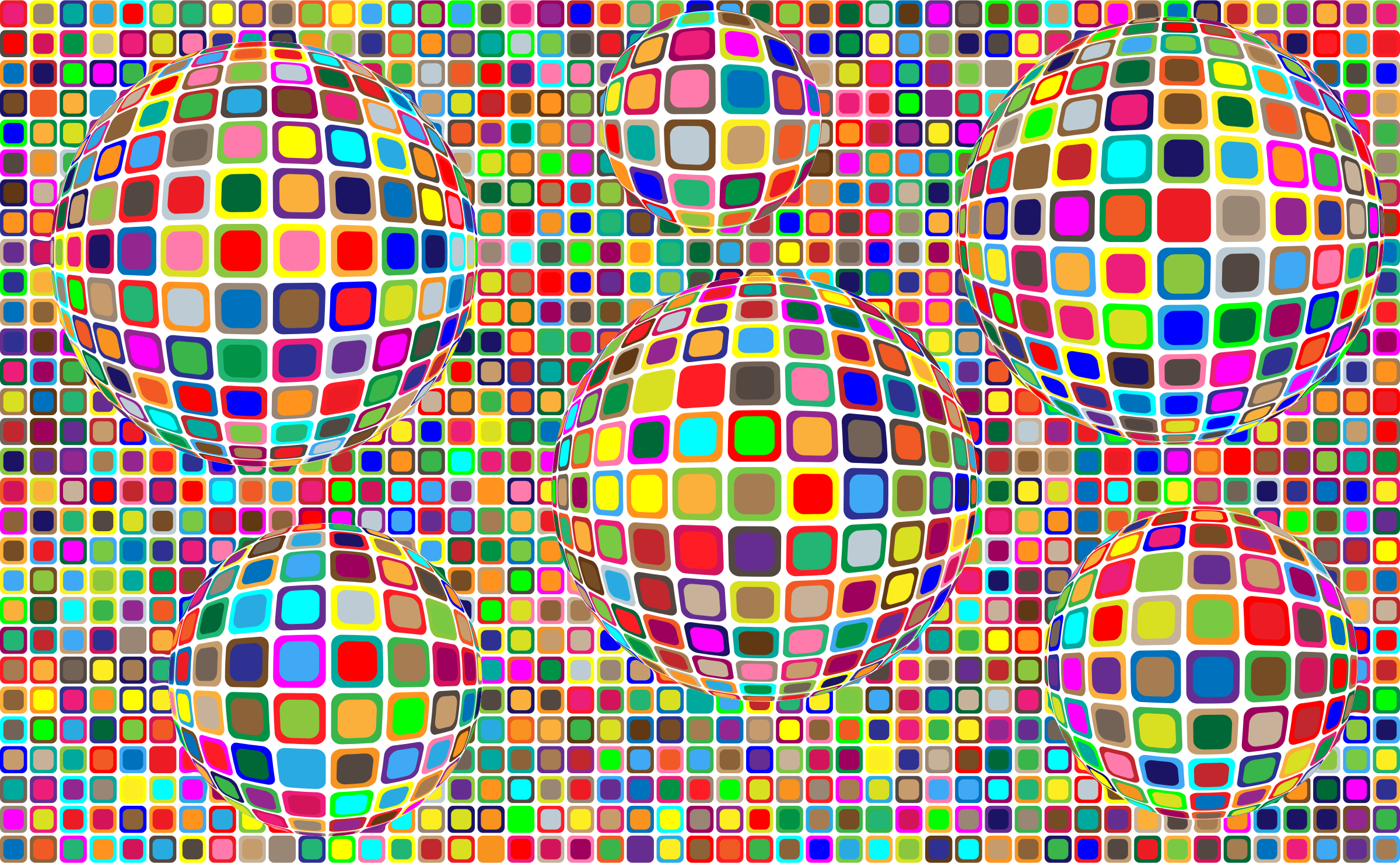 Colorful Squares Background Variation 2 by GDJ