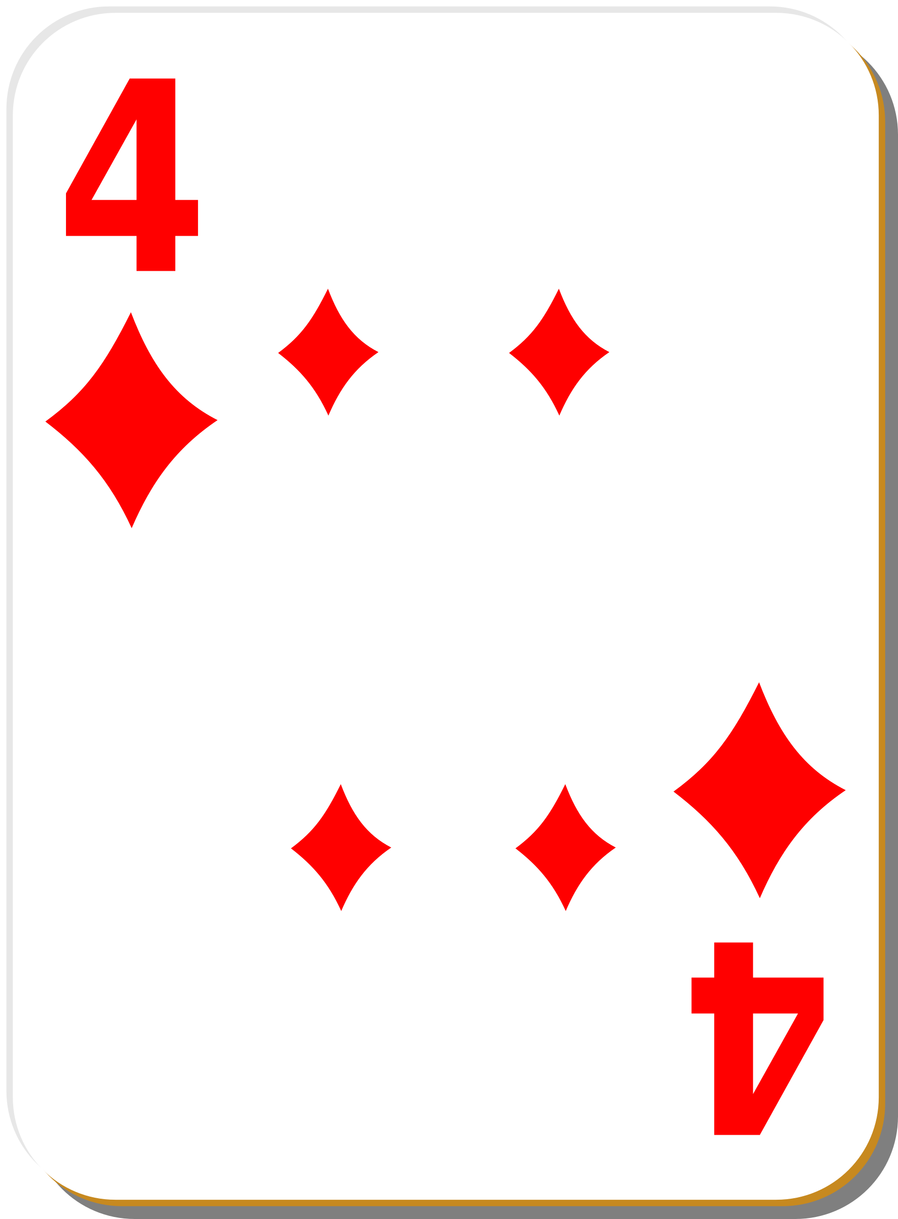 White deck: 4 of diamonds by nicubunu