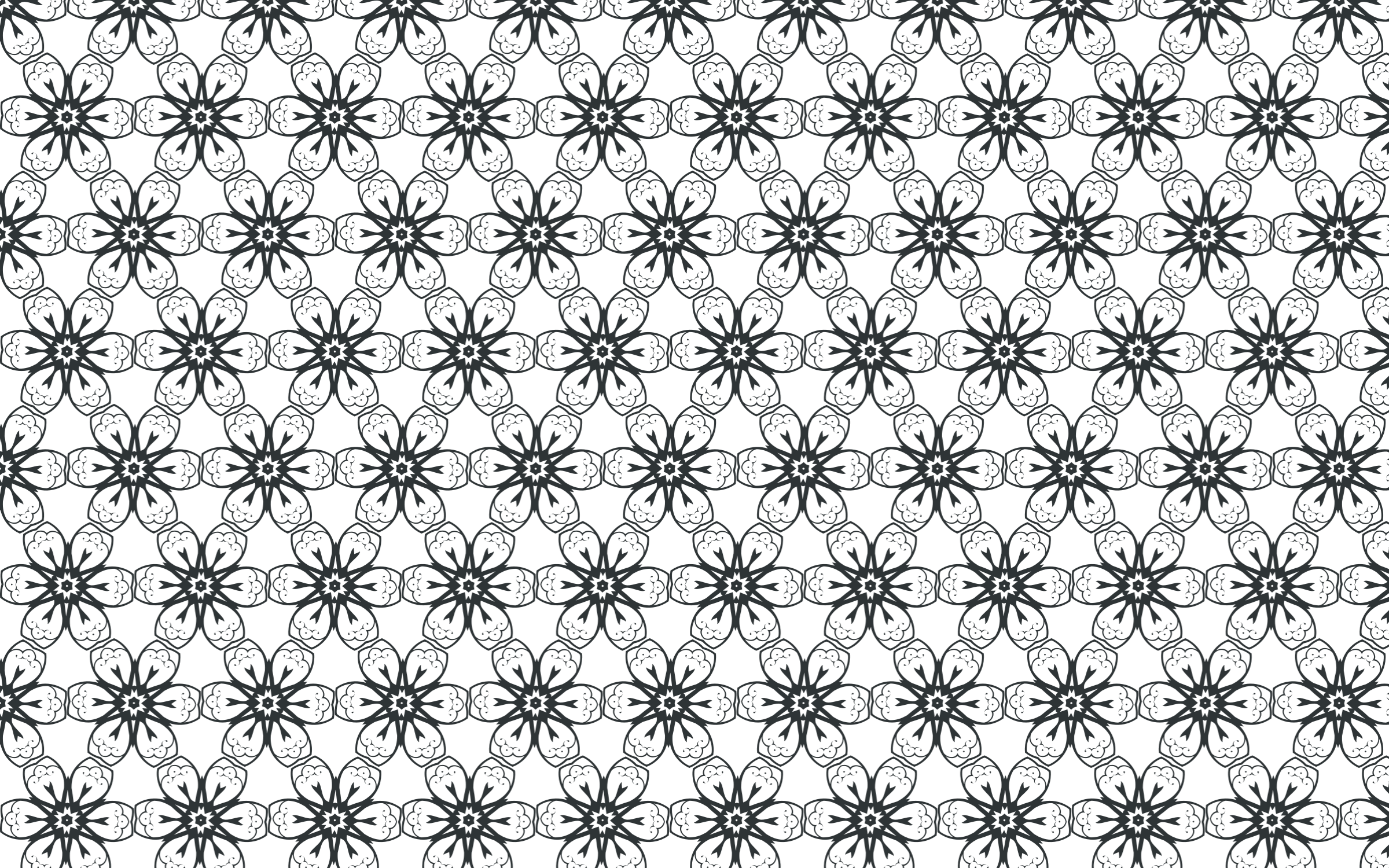 Silhouette Flourish Seamless Pattern by GDJ
