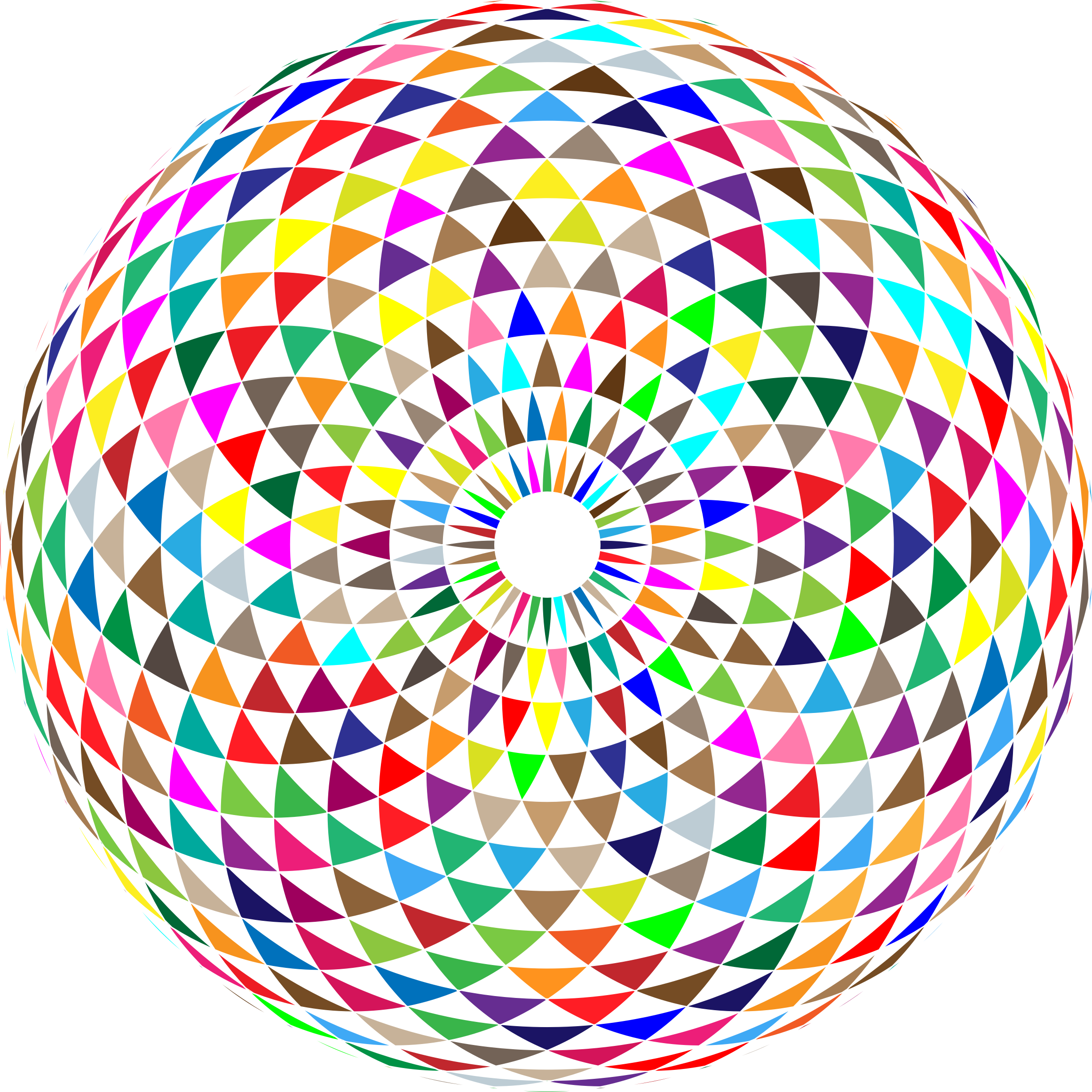 clipart colorful toroid mandala