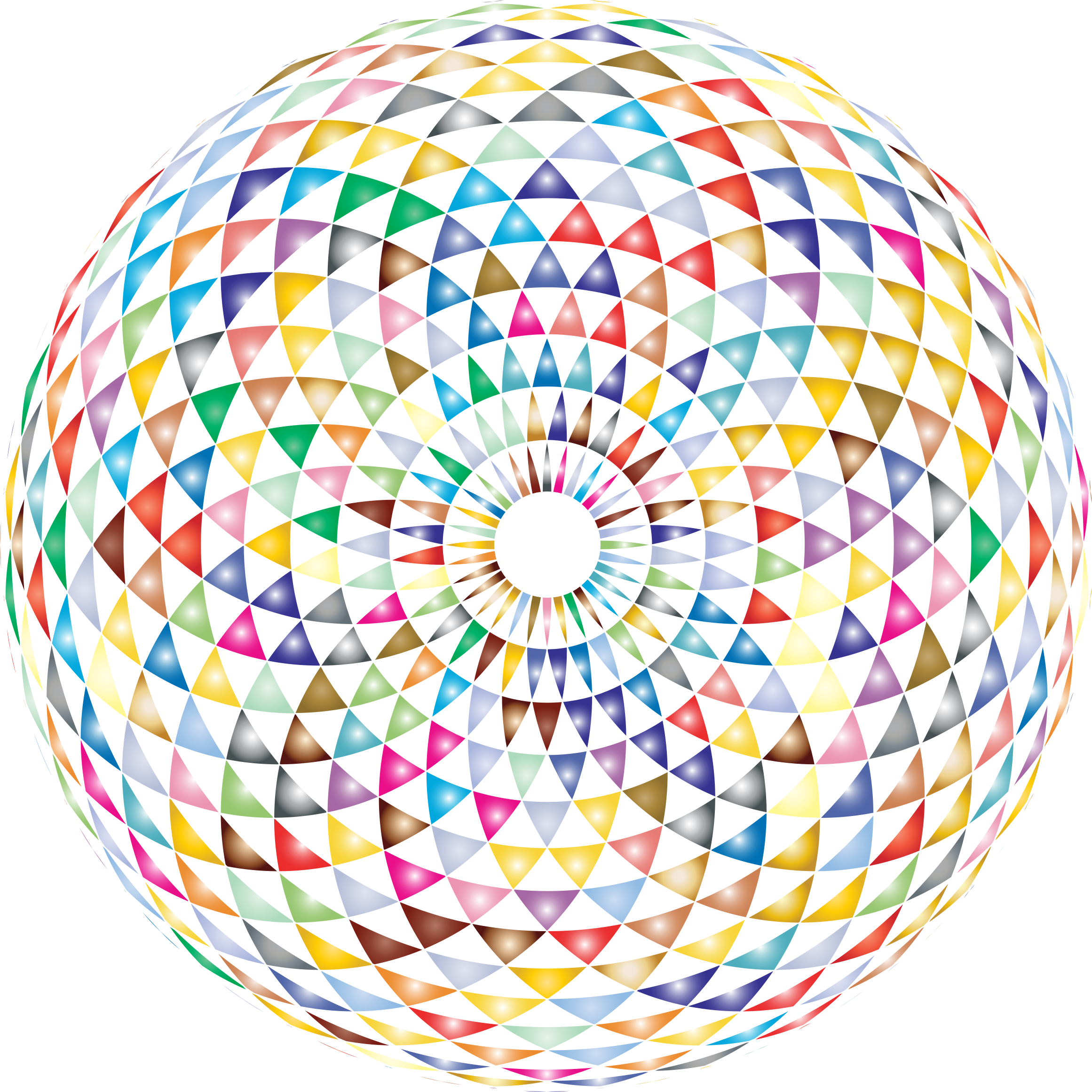 Colorful Toroid Mandala 3 by GDJ