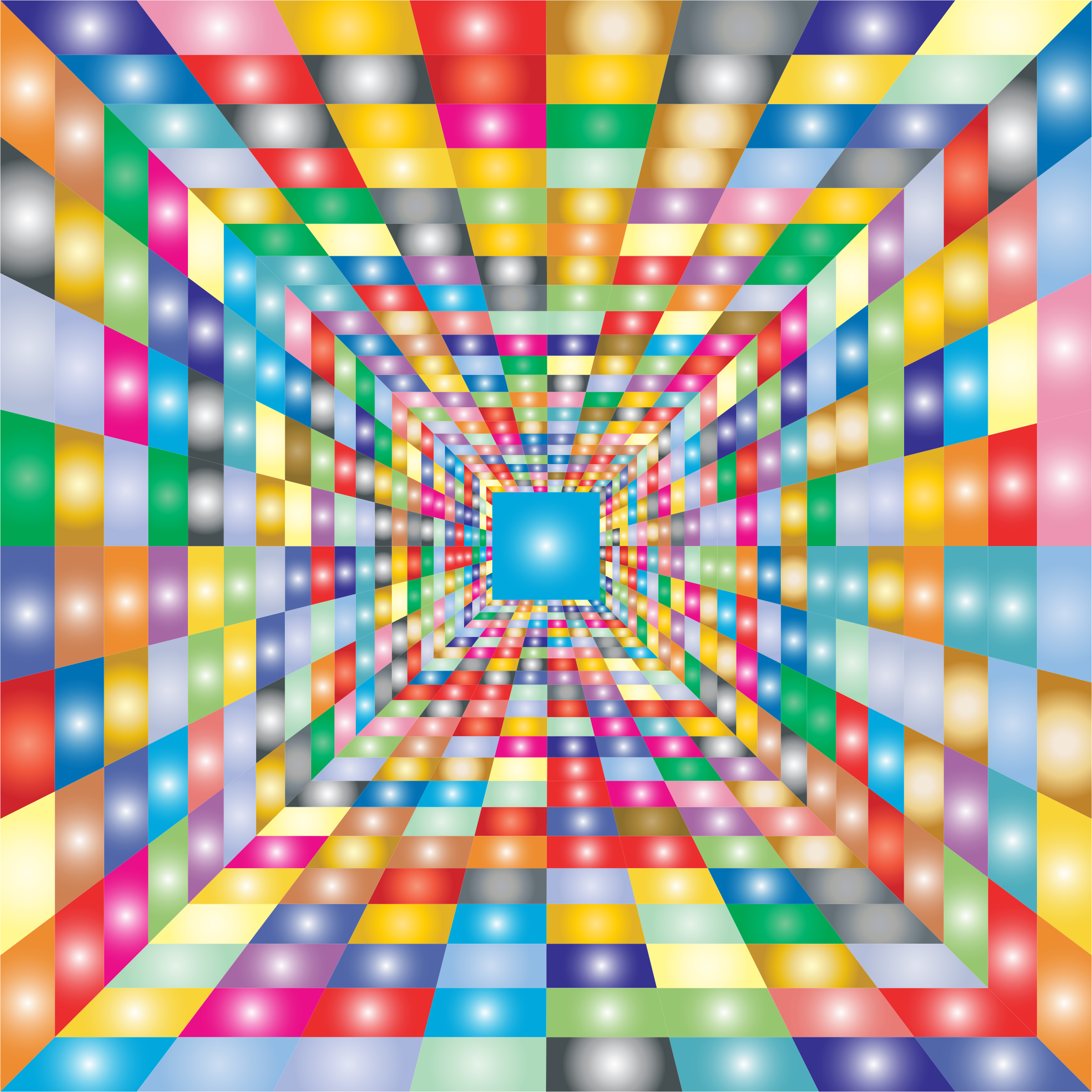 Colorful Perspective Grid by GDJ